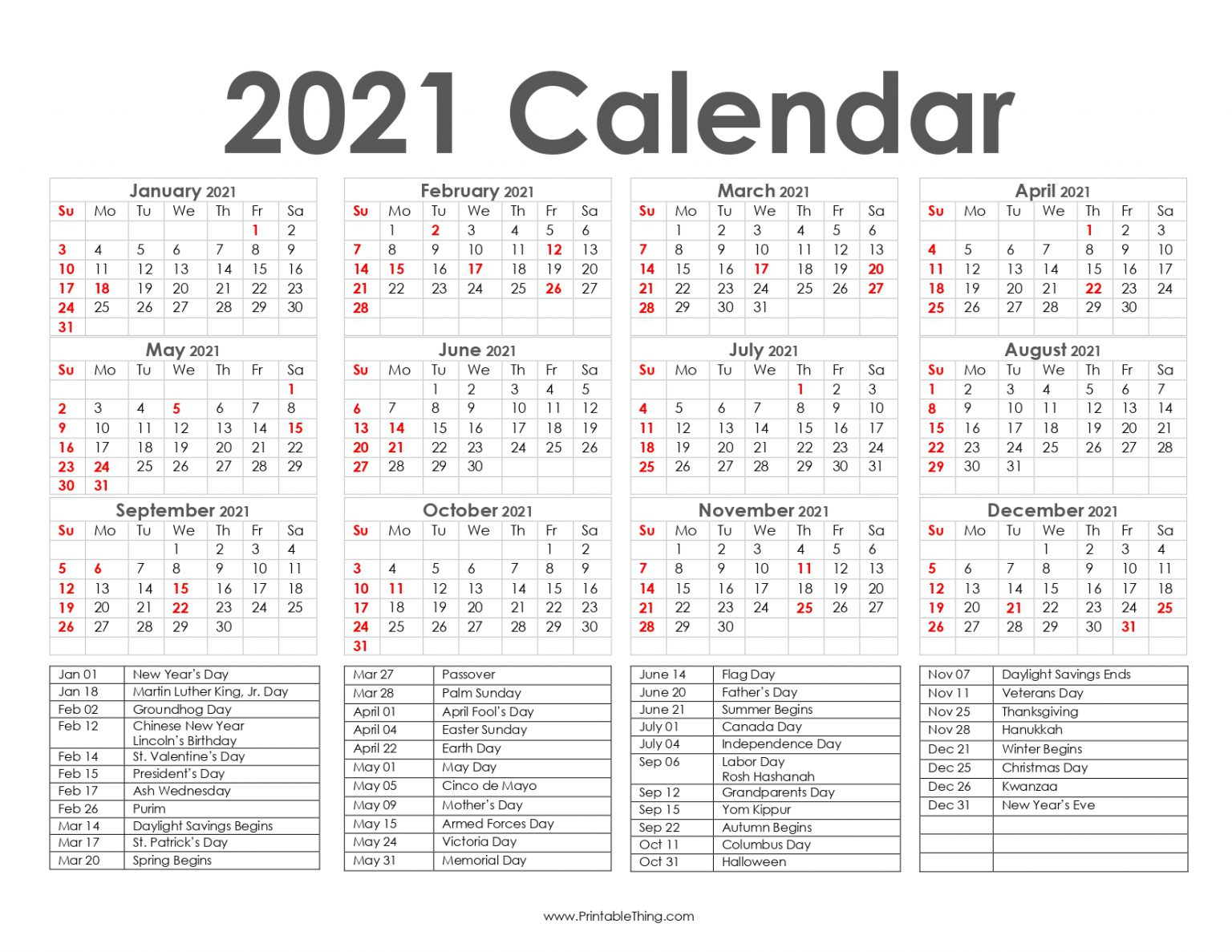 Get Access to A Different Type of 2021, 2022 Calendar Printable PDF Templates