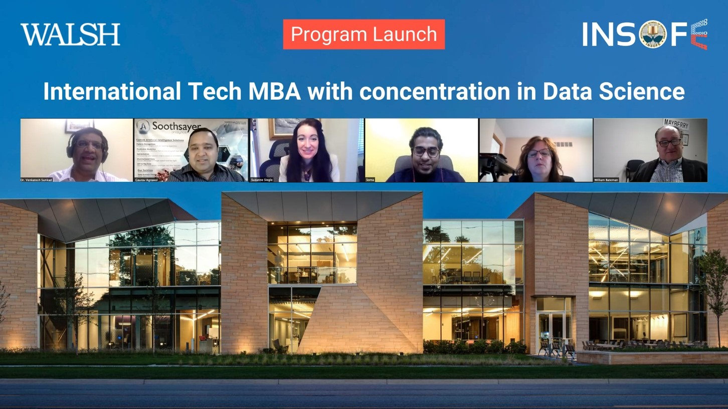 INSOFE, India and Walsh College, USA announce the launch of International Tech MBA with concentration in Data Science
