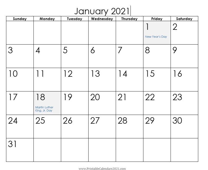 Planning a meeting and day is more productive with Printable Calendars 2021