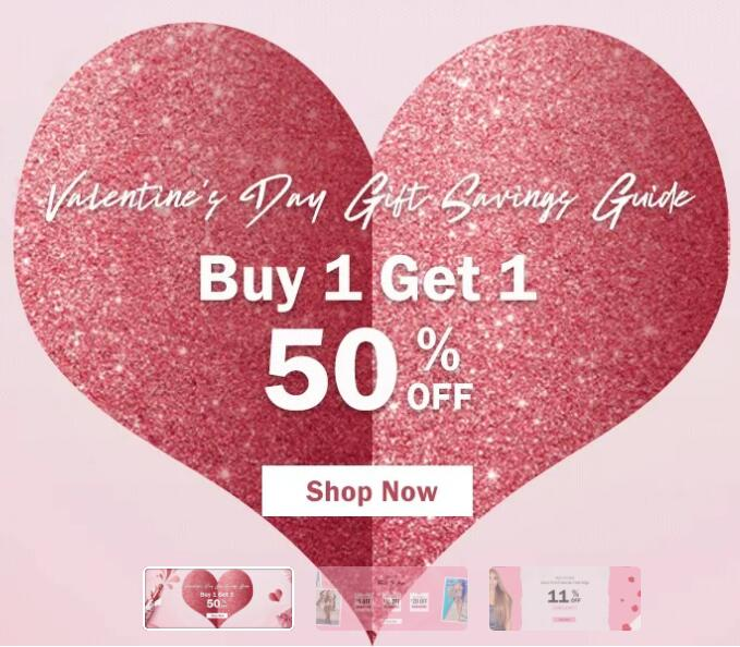 Jurllyshe has launched their valentine's day gifts sales for fashion clothes & wigs
