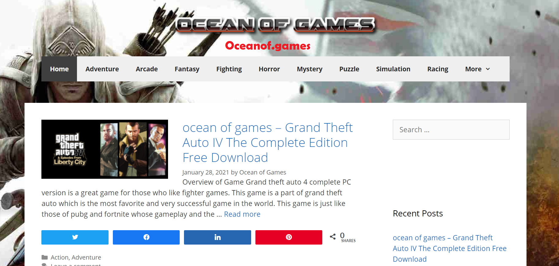 Ocean Of Games Announces Free Games Download For PC and Mobile Game Players
