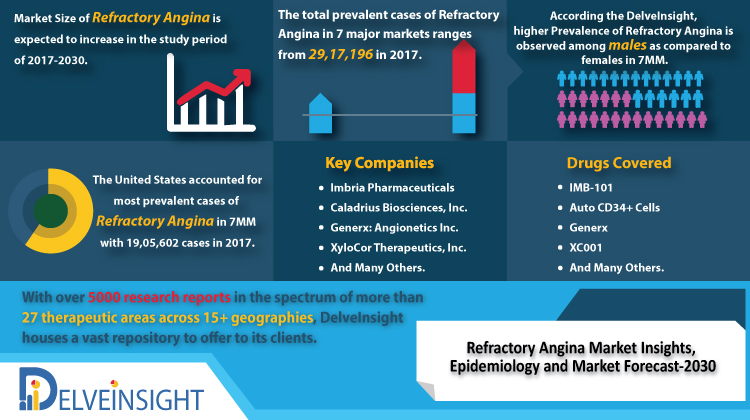 Refractory Angina Market Current Scenario and Future Growth Analysis by 2030 - Key Companies: Imbria Pharmaceuticals, Caladrius Biosciences, Angionetics Inc and XyloCor Therapeutics | Delveinsight