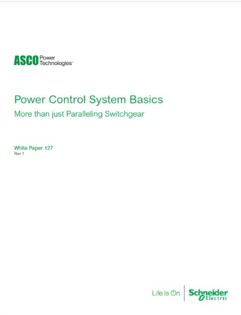 ASCO White Paper Explains Paralleling Switchgear for Multi-Generator Backup Systems
