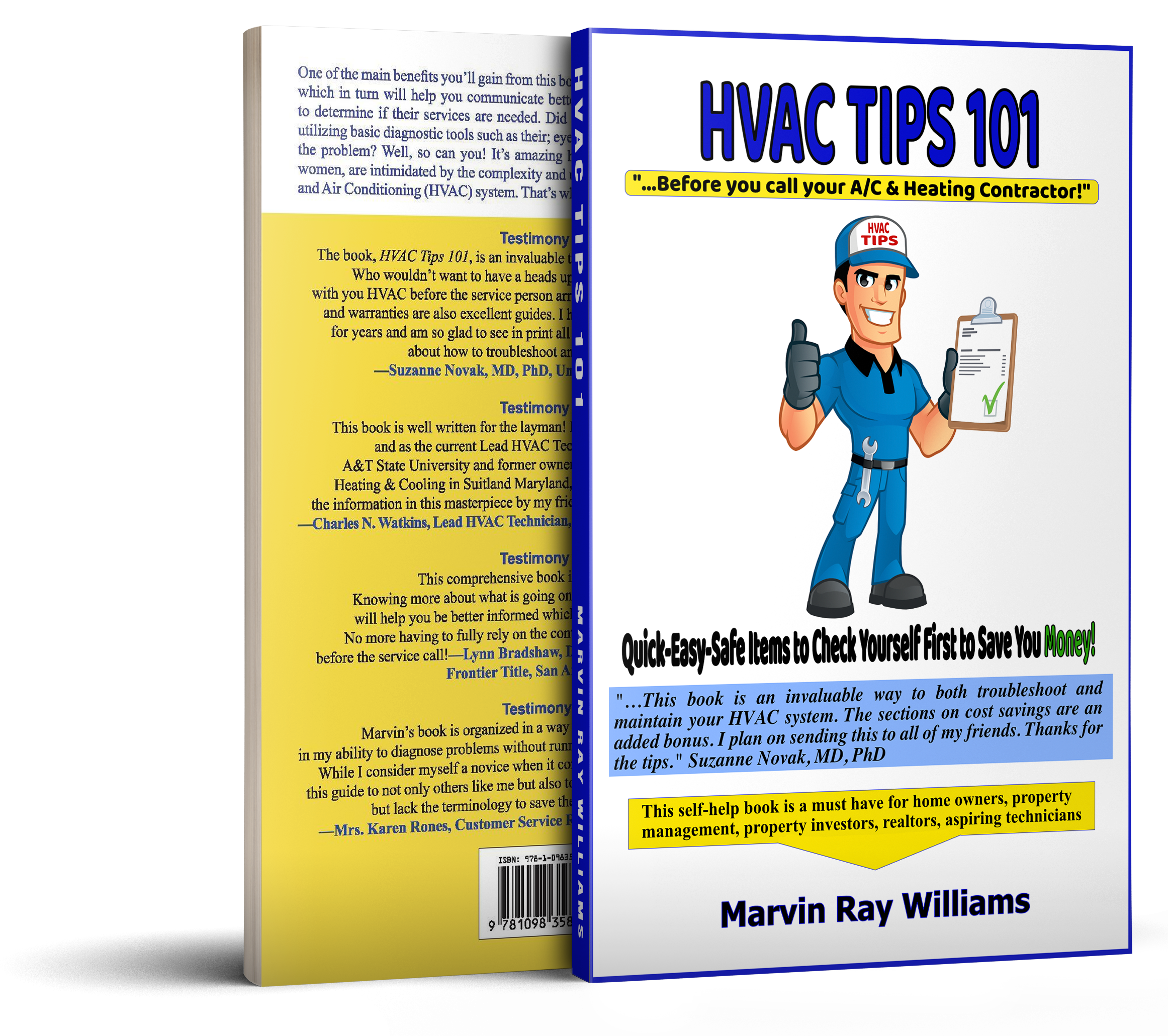"HVAC Guru Marvin Ray Williams Announces His Book ""HVAC Tips 101"""