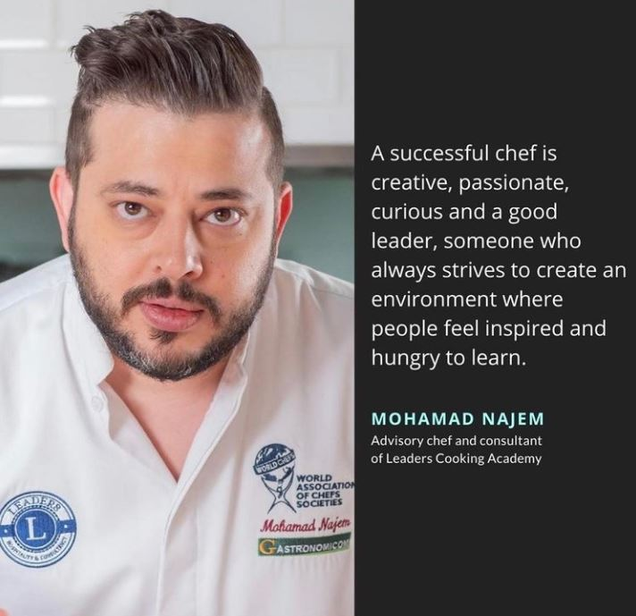 Chef Mohammad Najem is among the best Arab chefs in region