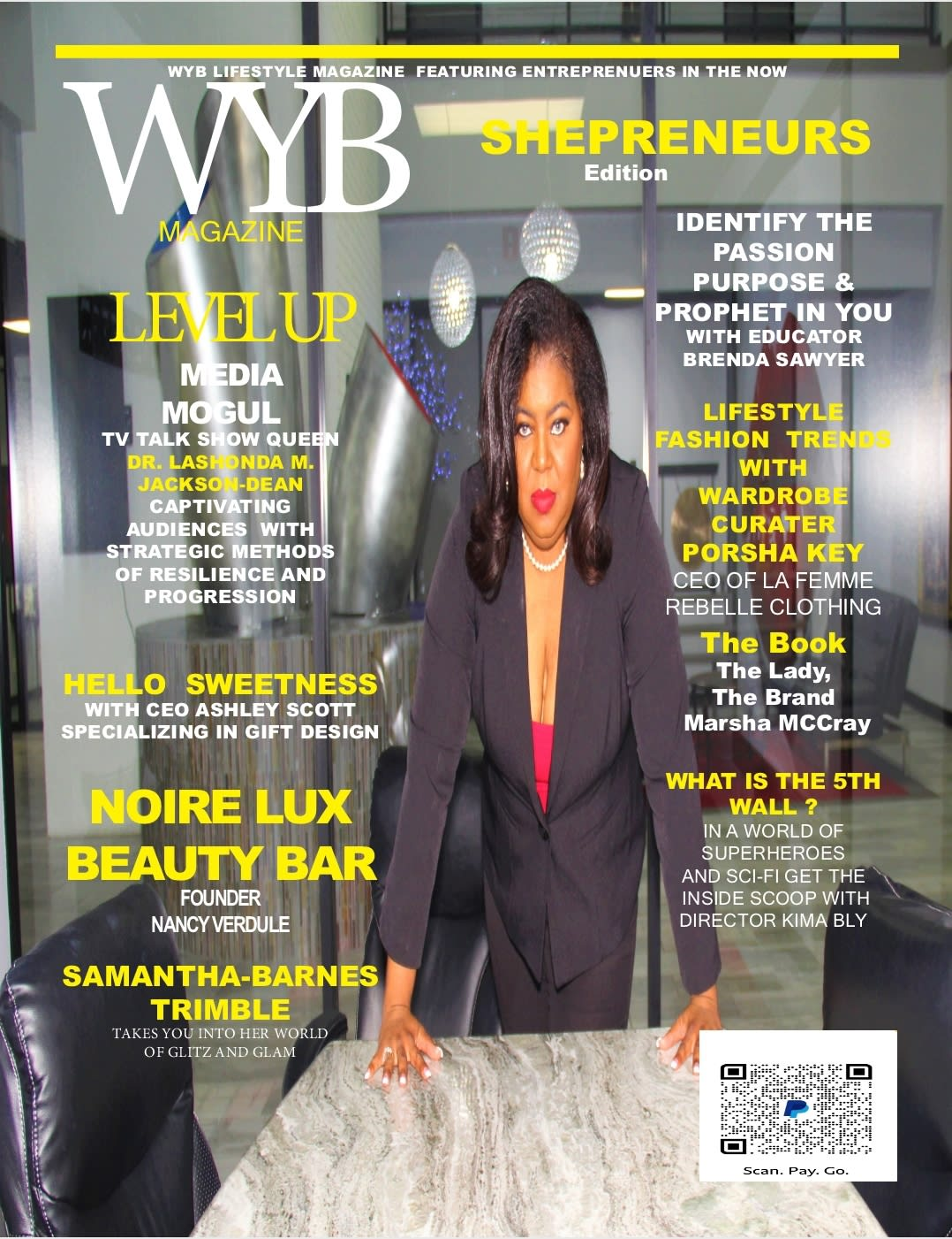 """Bridging Black History Month and Women's History Month, Dr. LaShonda Jackson-Dean is the Cover Model for (WYB) """"Working Your Business Magazine"""""""