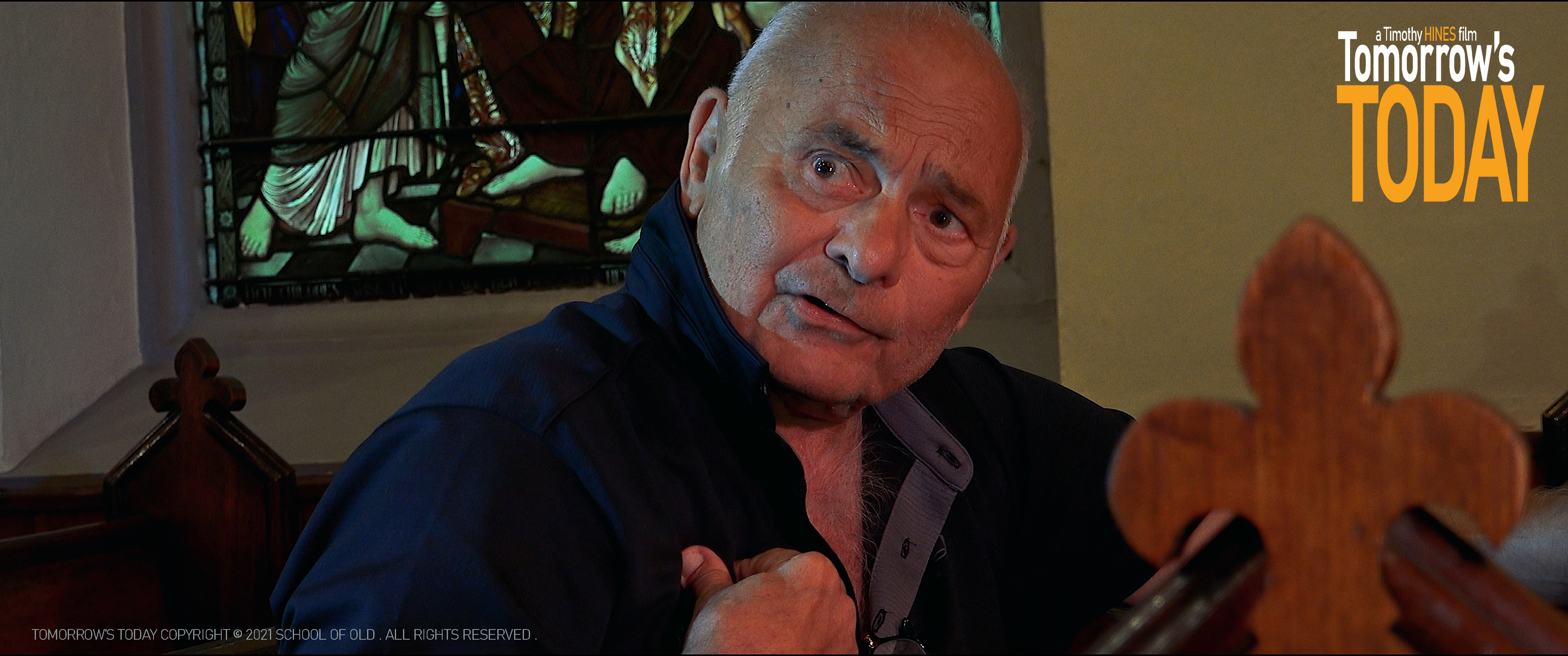 Academy Award nominee Burt Young turns in Powerful Performance in Tomorrow's Today premiering at International Day of Comedy Film Festival in Hollywood April 3rd
