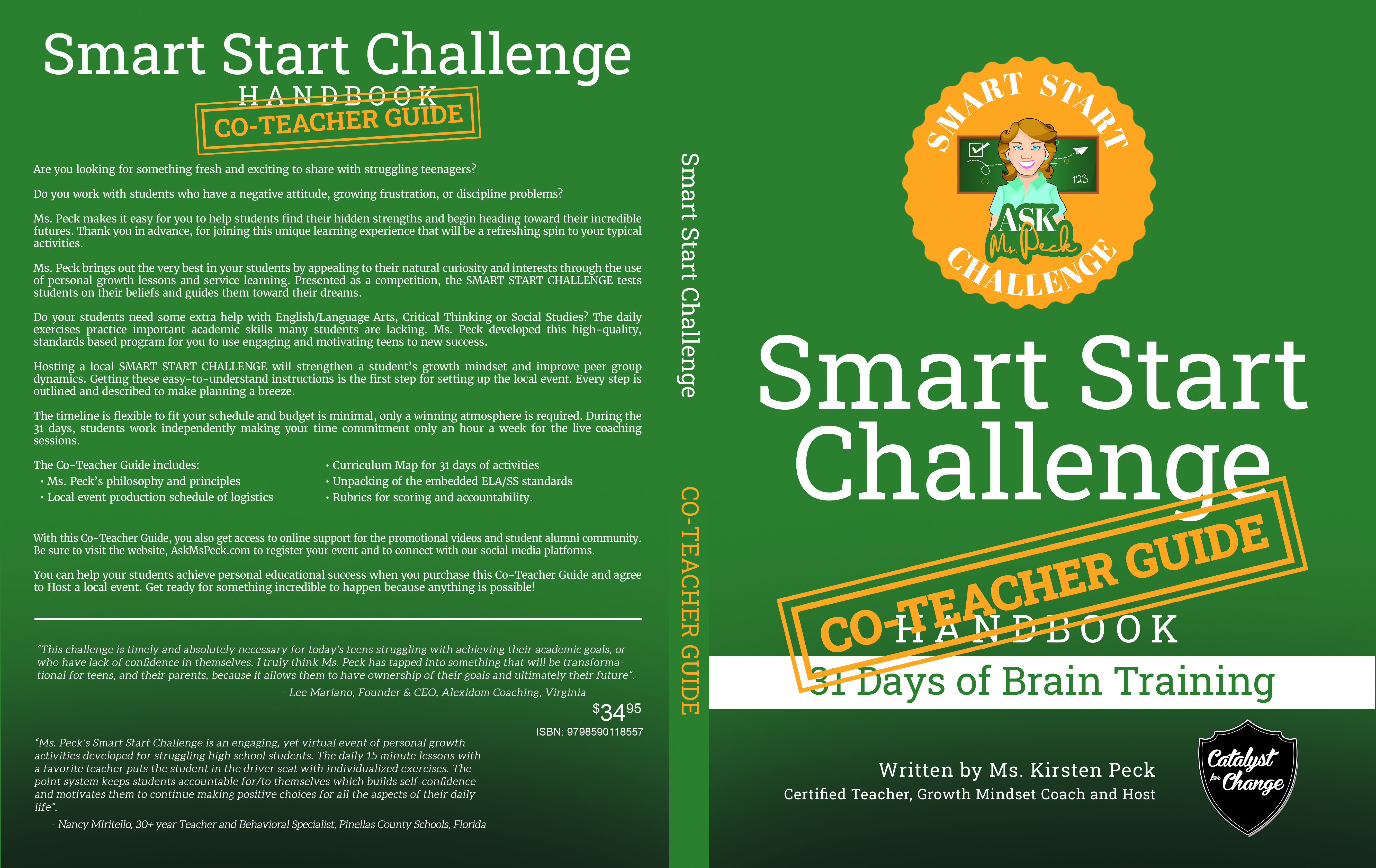 Ms. Peck Publishes Co-Teacher Guide to Smart Start Challenge Handbook, Weekly Workshop Tickets Available