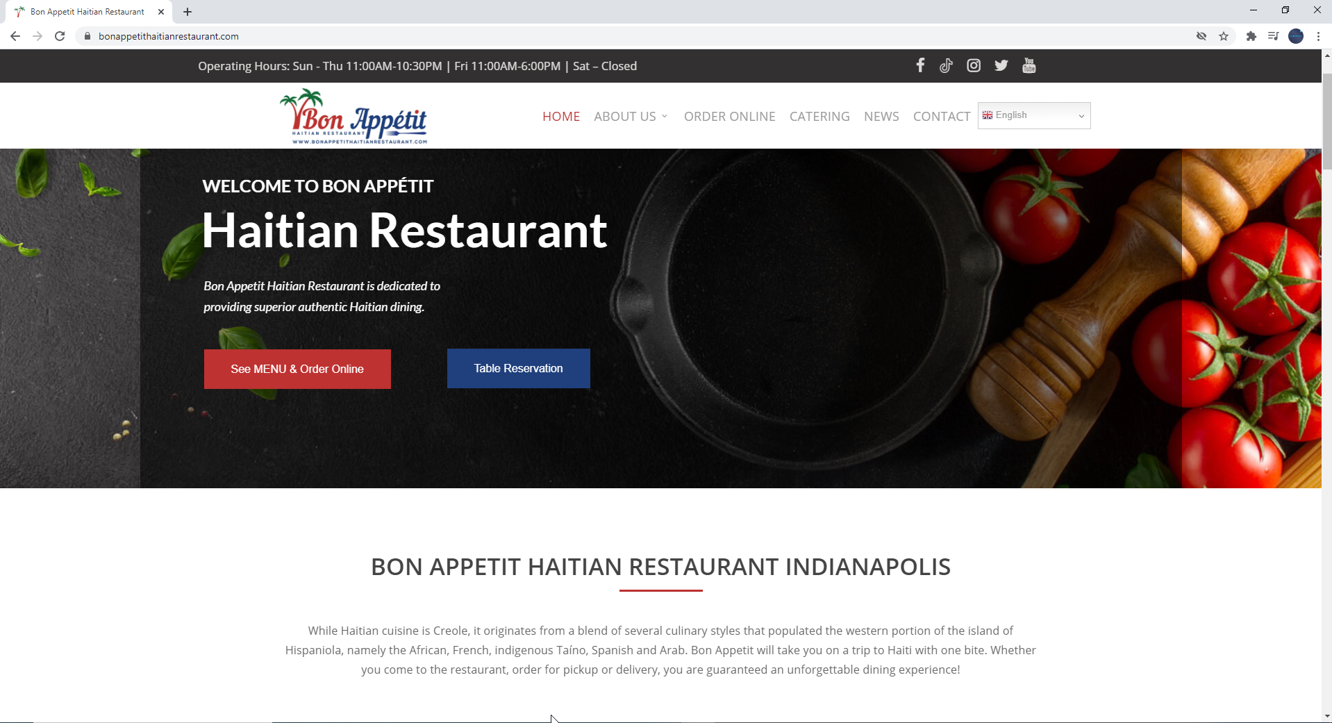 NAOSSOFT Launches New Website and Online Food Ordering System for Bon Appetit Haitian Restaurant in Indianapolis