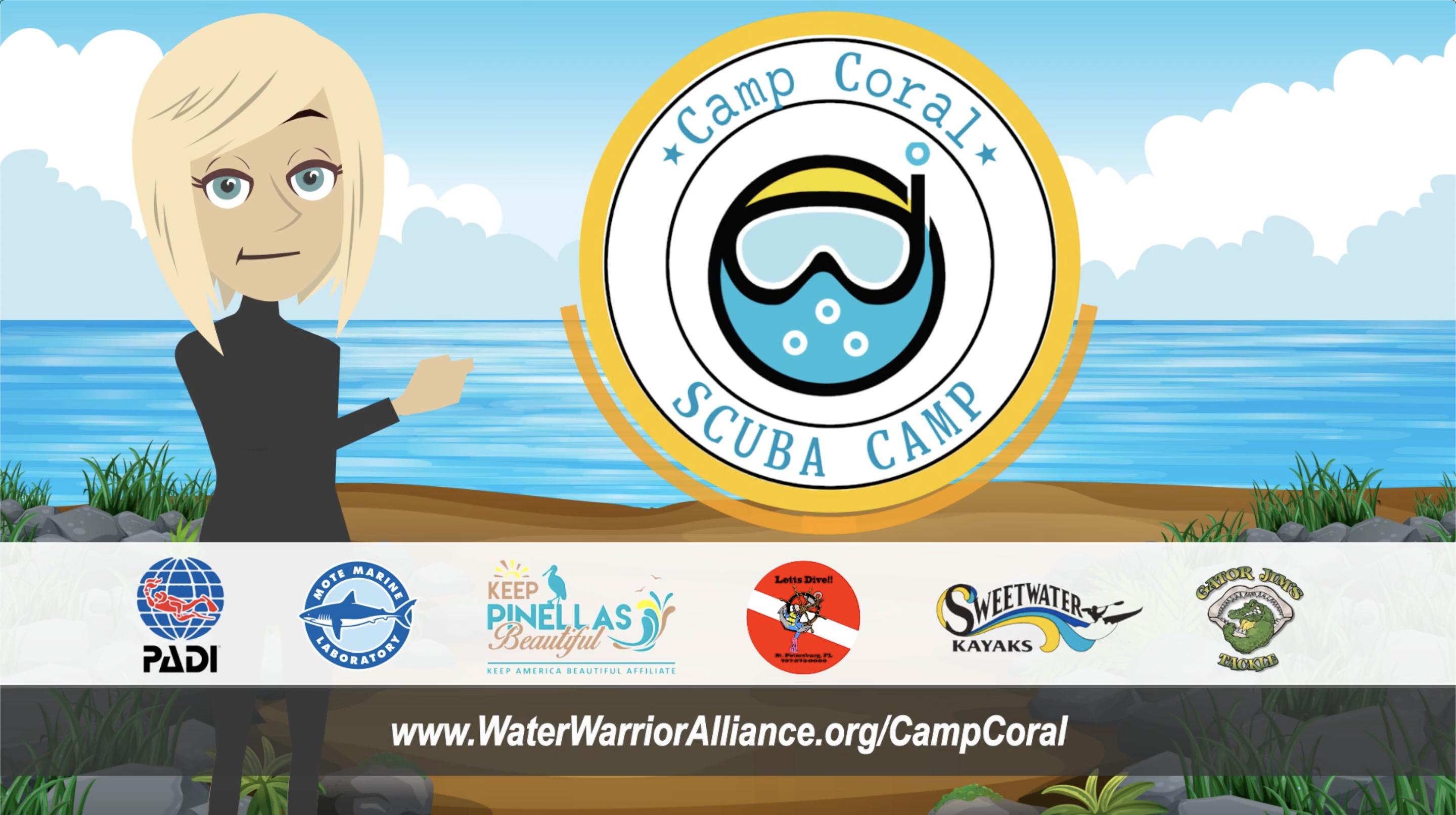 Water Warrior Alliance announces the Camp Coral, a two-week overnight camping experience for marine activity enthusiasts.