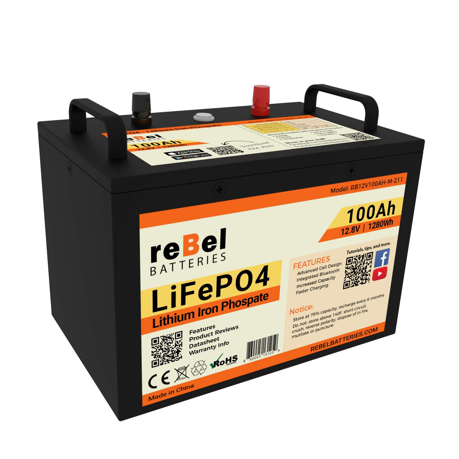 reBel Batteries launches Metal Cased 12V 100Ah LiFePO4 Bluetooth-enabled Battery
