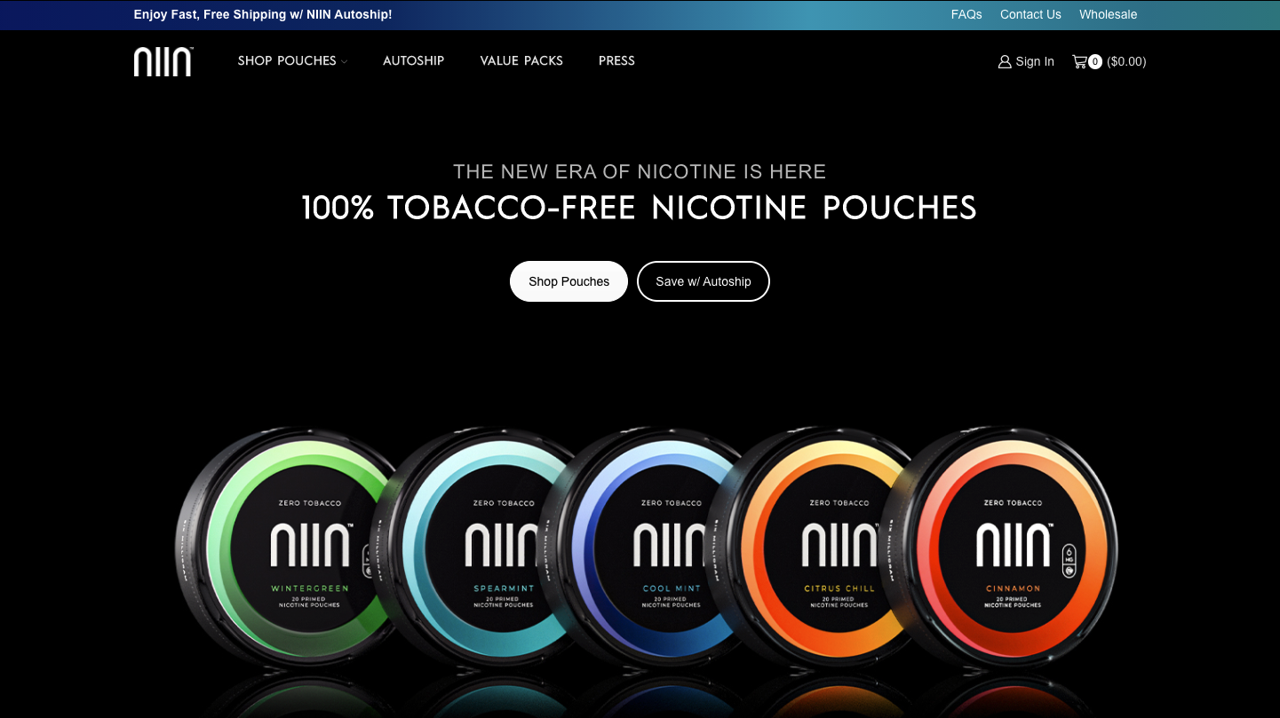 Fast-Growing Synthetic Nicotine Brand NIIN™ Launches its Official Online Retail Store