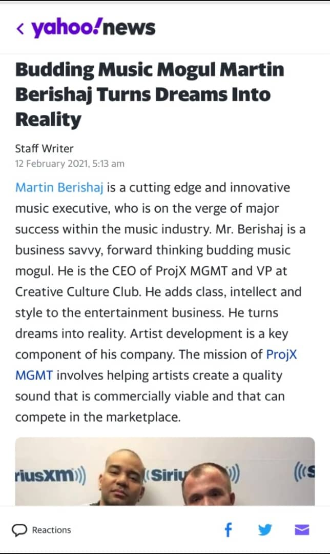 Martin Berishaj, CEO Of ProjX MGMT Continues To Shine Light On A Multi-Billion-Dollar Industry