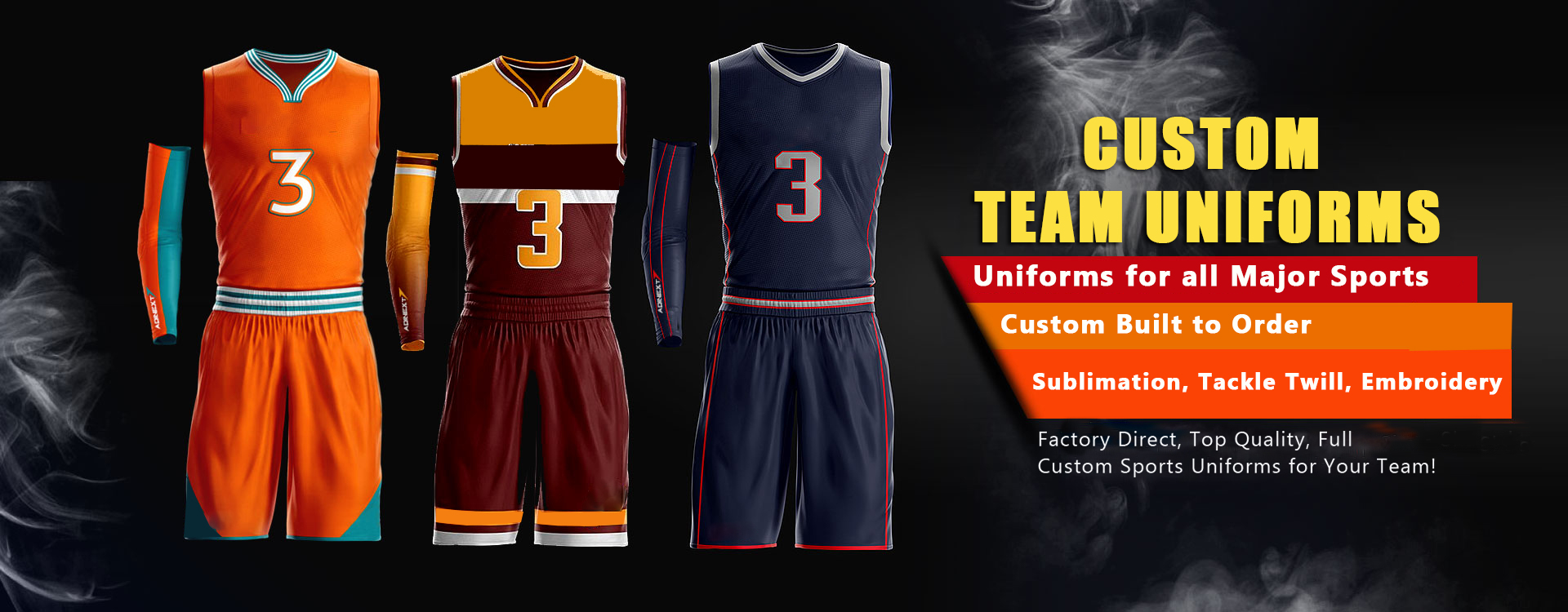 Custom Sports Uniforms Offered by Affordable Uniforms Online