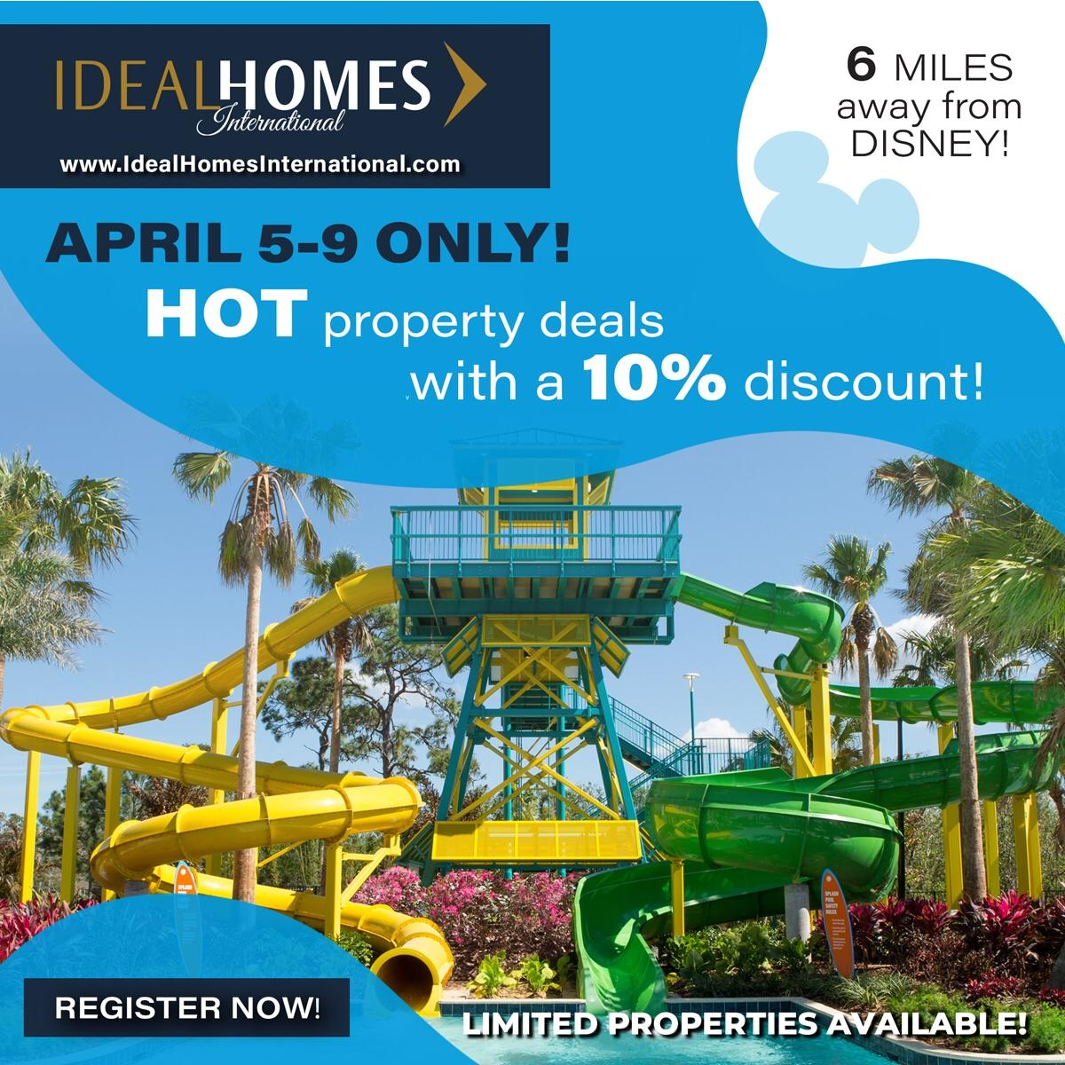 Ideal Homes International Offers Orlando Property investment Deals at A Special Discount