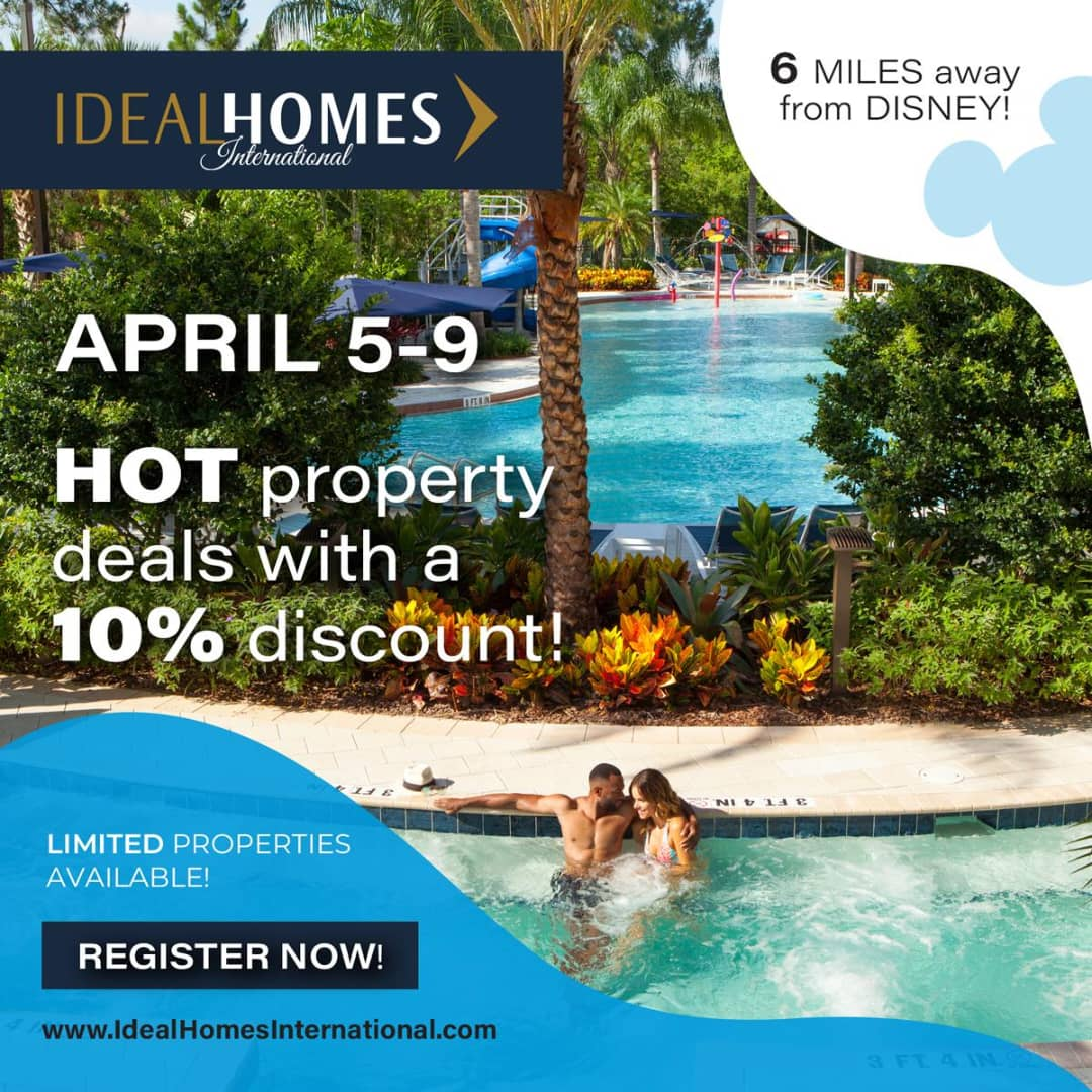 Exclusive Ideal Homes International discounted Florida resort condo lets one visit Disney while using vacation dollars to build wealth