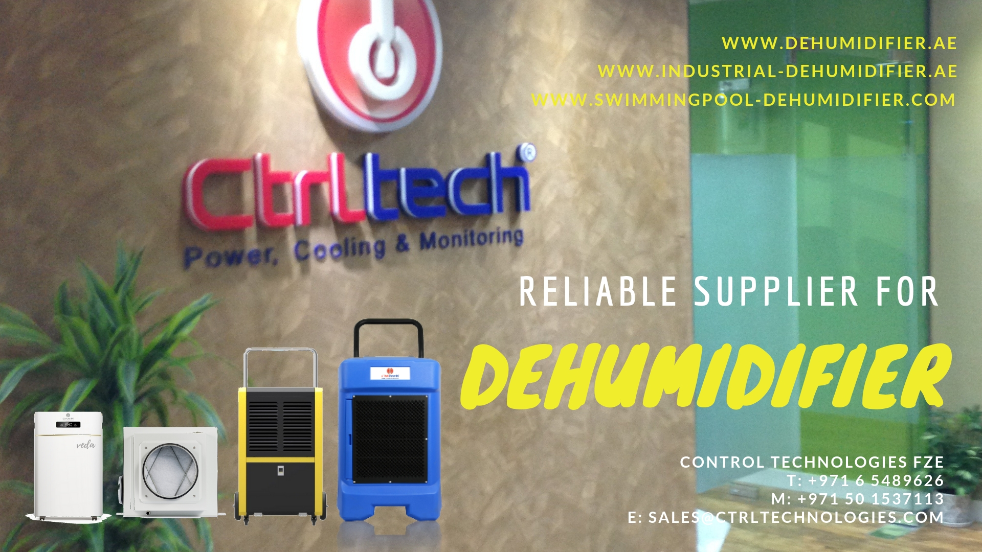 CtrlTech Takes Praise As The Leading Dehumidifier Supplier In The Middle East