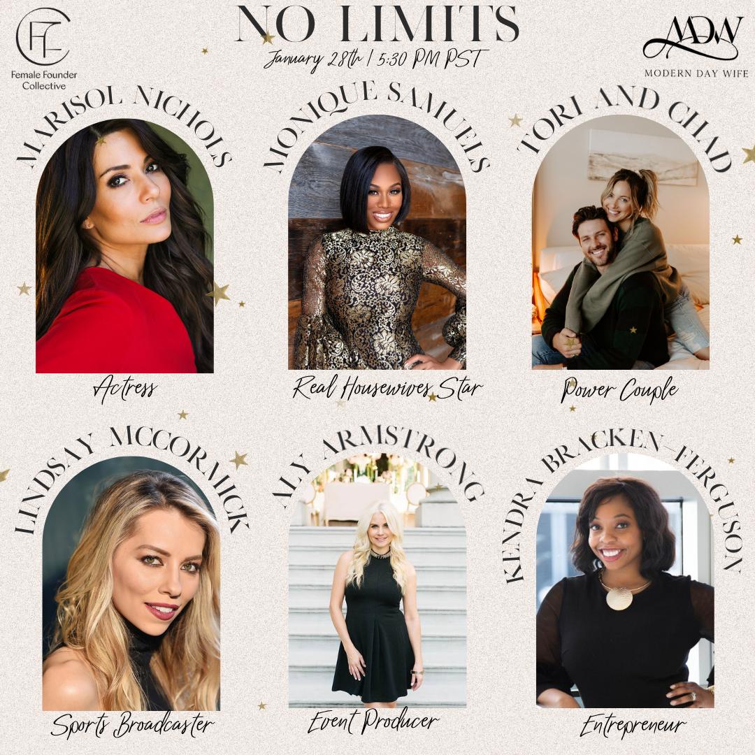 No Limits: Special Online Celebrity Workshop