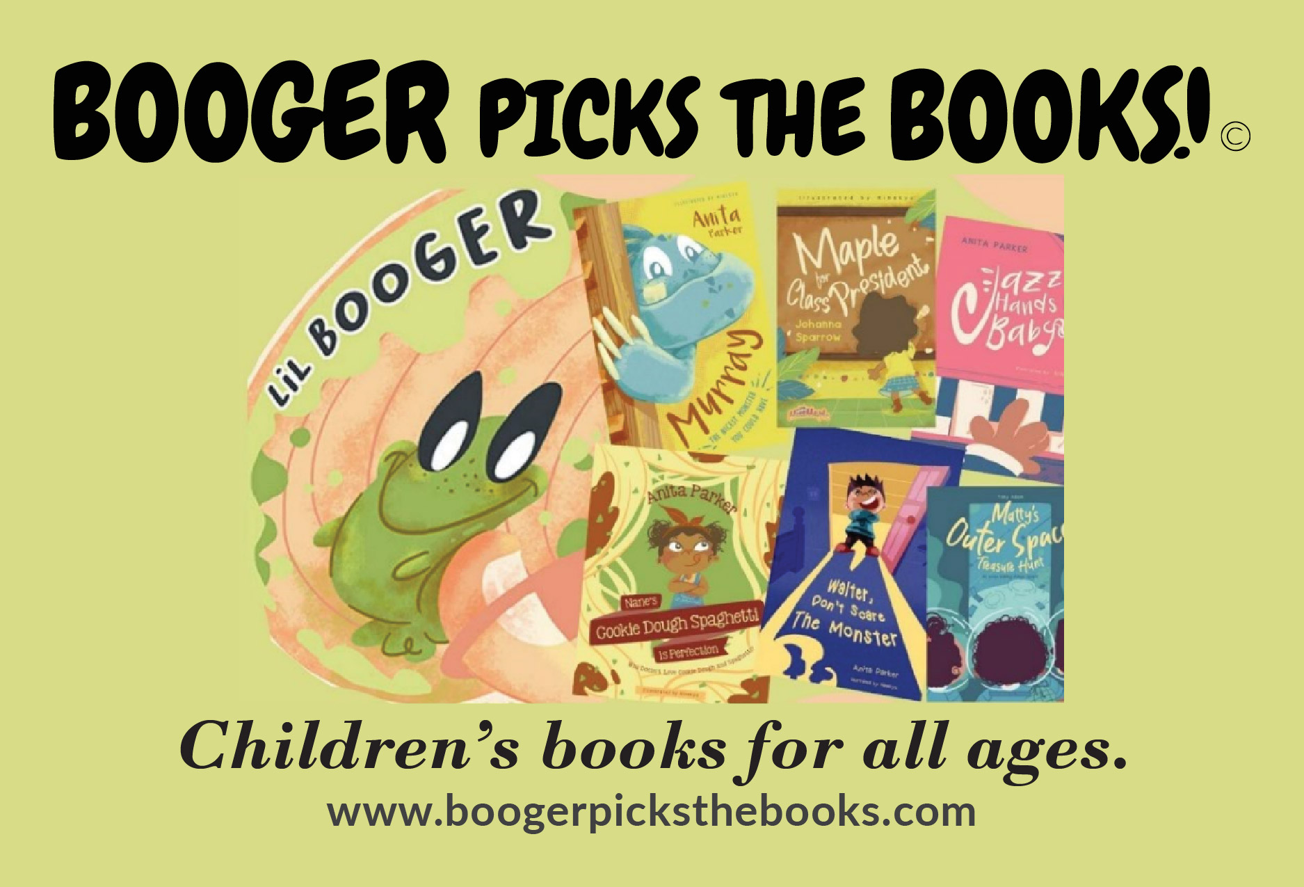 """""""Booger Picks the Books"""" Displays Wide Collection Of Children Books"""
