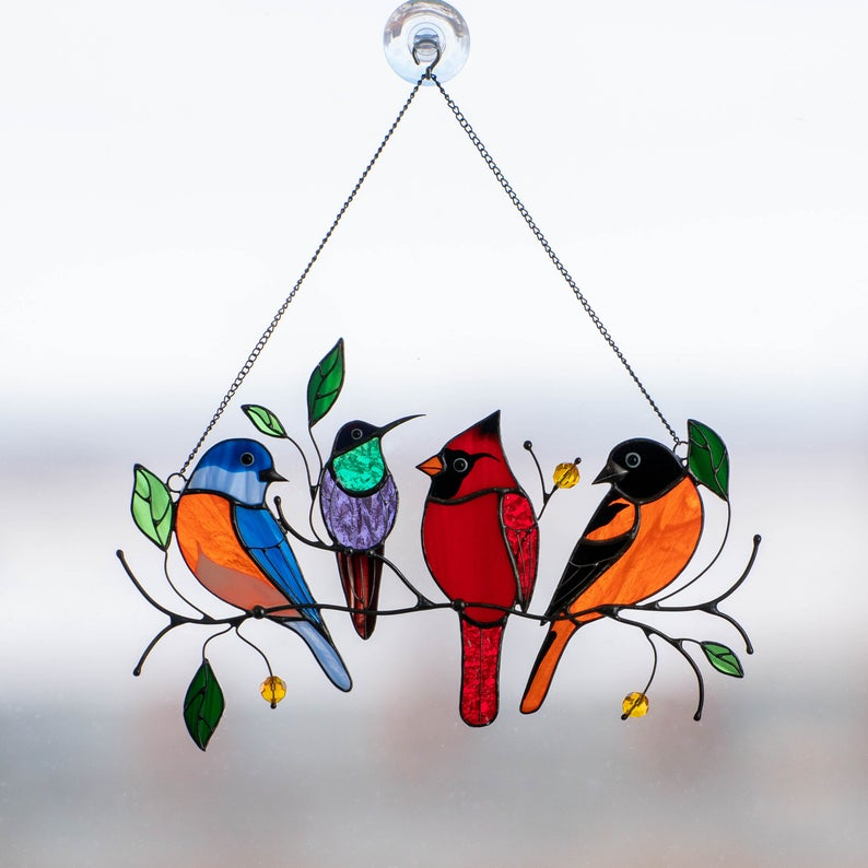 Spoiltlife's Stained Glass Bird Suncatcher Earns Rave Reviews