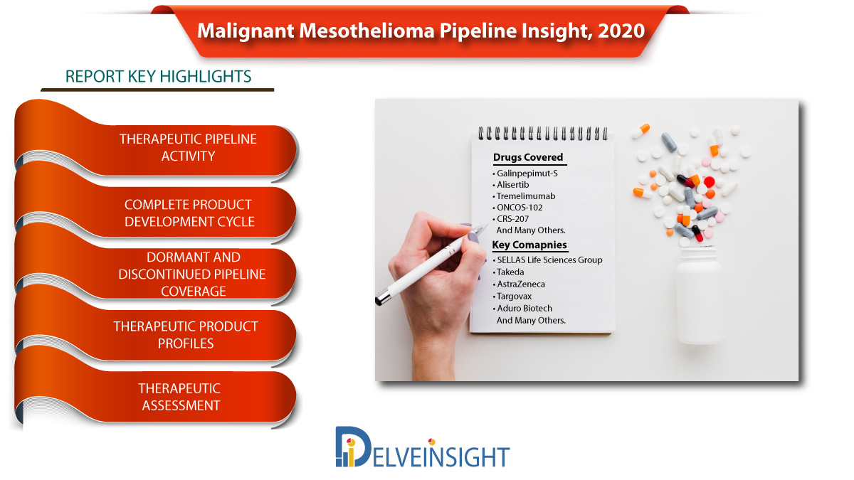 Malignant Mesothelioma Market: Industry trends, Drugs, Companies and Analysis by DelveInsight | SELLAS Life Sciences, Takeda, AstraZeneca, Targovax, Aduro Biotech and Others
