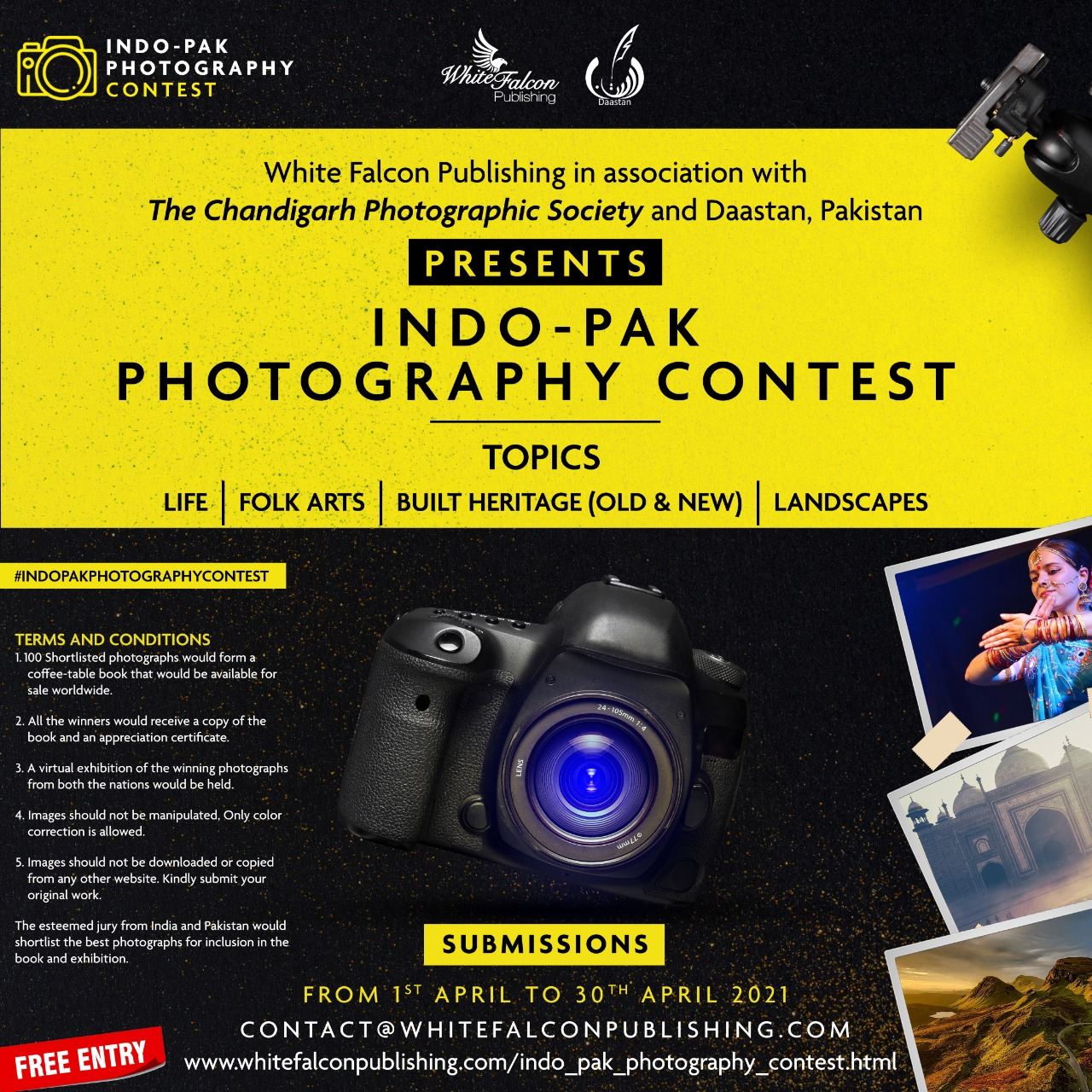 Indo-Pak Photography Contest launched by White Falcon Publishing