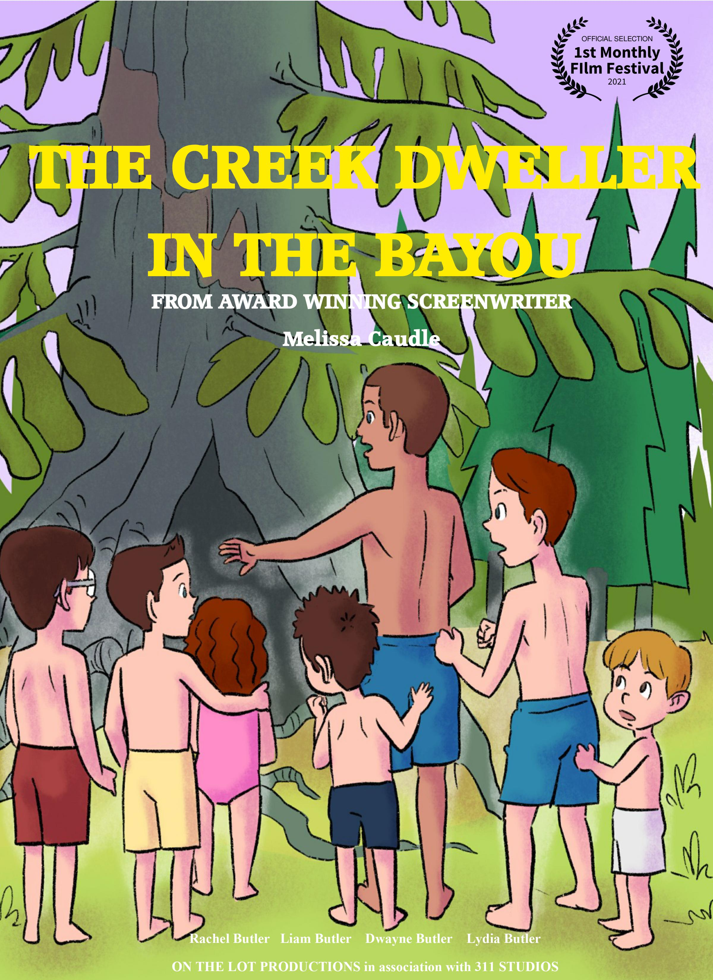 """Author and Screenwriter Dr. Melissa Caudle's Script """"The Creek Dweller in the Bayou"""" Wins at the 1st Monthly Film Festival for Animation Script"""