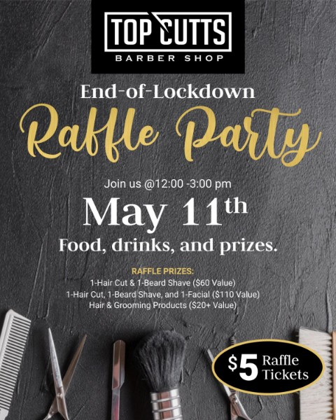 San Diego Barber Shop Top Cutts is Hosting a Raffle Party, Marking The End of Lockdown