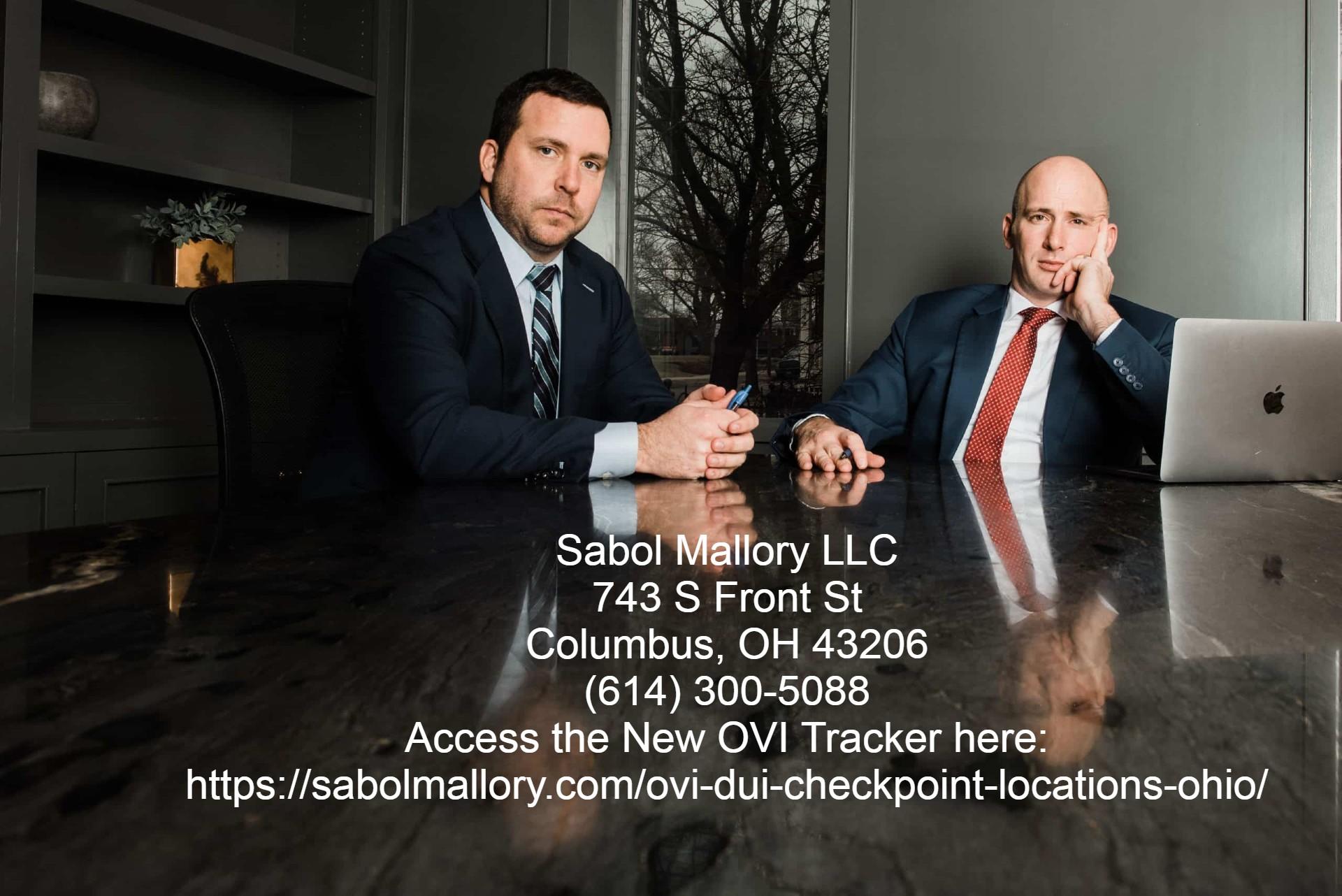 Columbus DUI Lawyers Sabol Mallory LLC Launch OVI Checkpoint Location Tracker