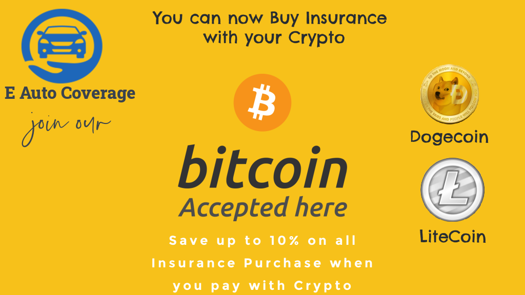 Georgia-Based Assurance Agency, E Auto Coverage Insurance, Becomes the First to Use Cryptocurrency