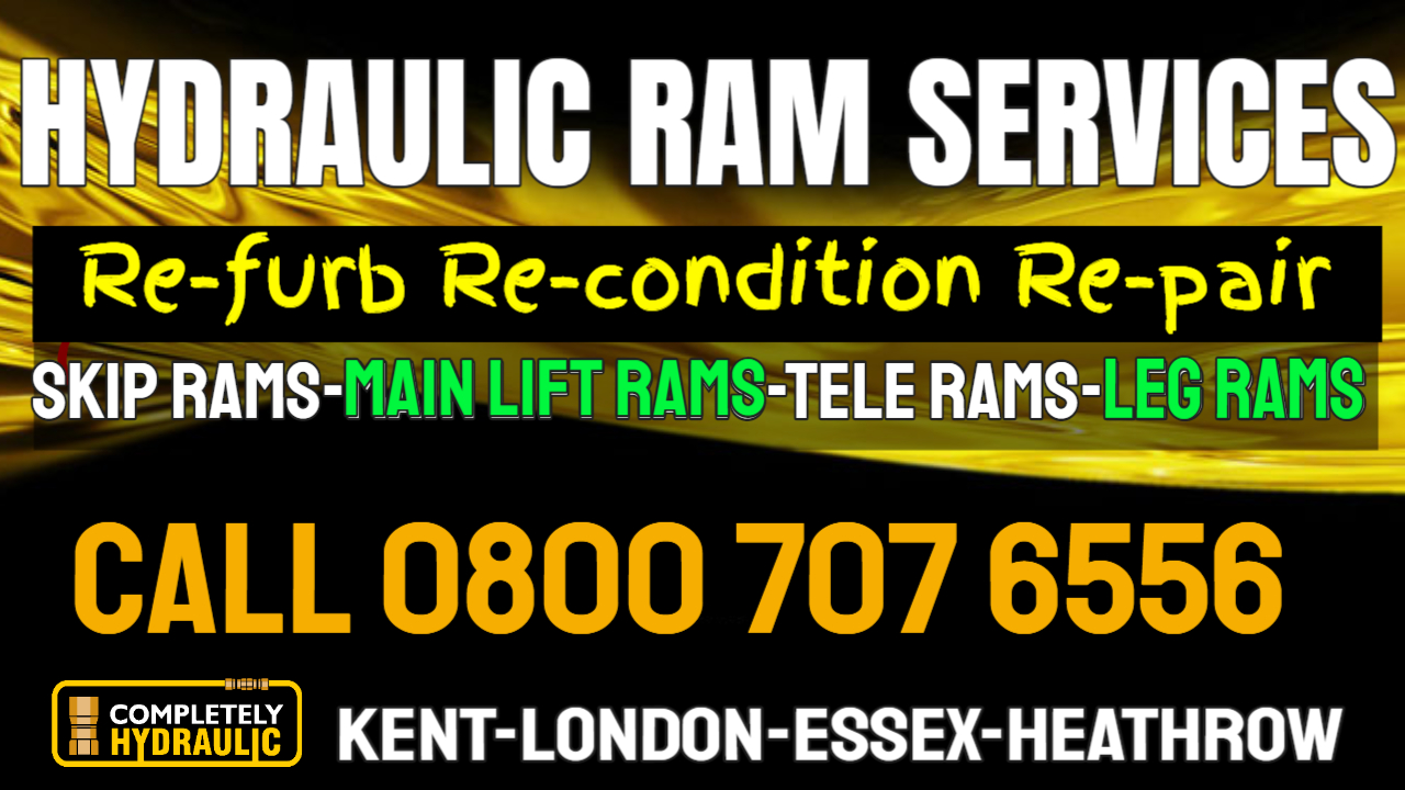 Completely Hydraulic Is Stepping Up Servicing Skip Lorries For Ram Repairs In Essex, London, Kent and Heathrow