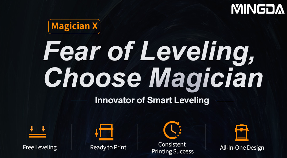 MINGDA Magician X One-Touch Smart Auto-leveling 3D Printer Salutes to the 2021 TCT Asia Show