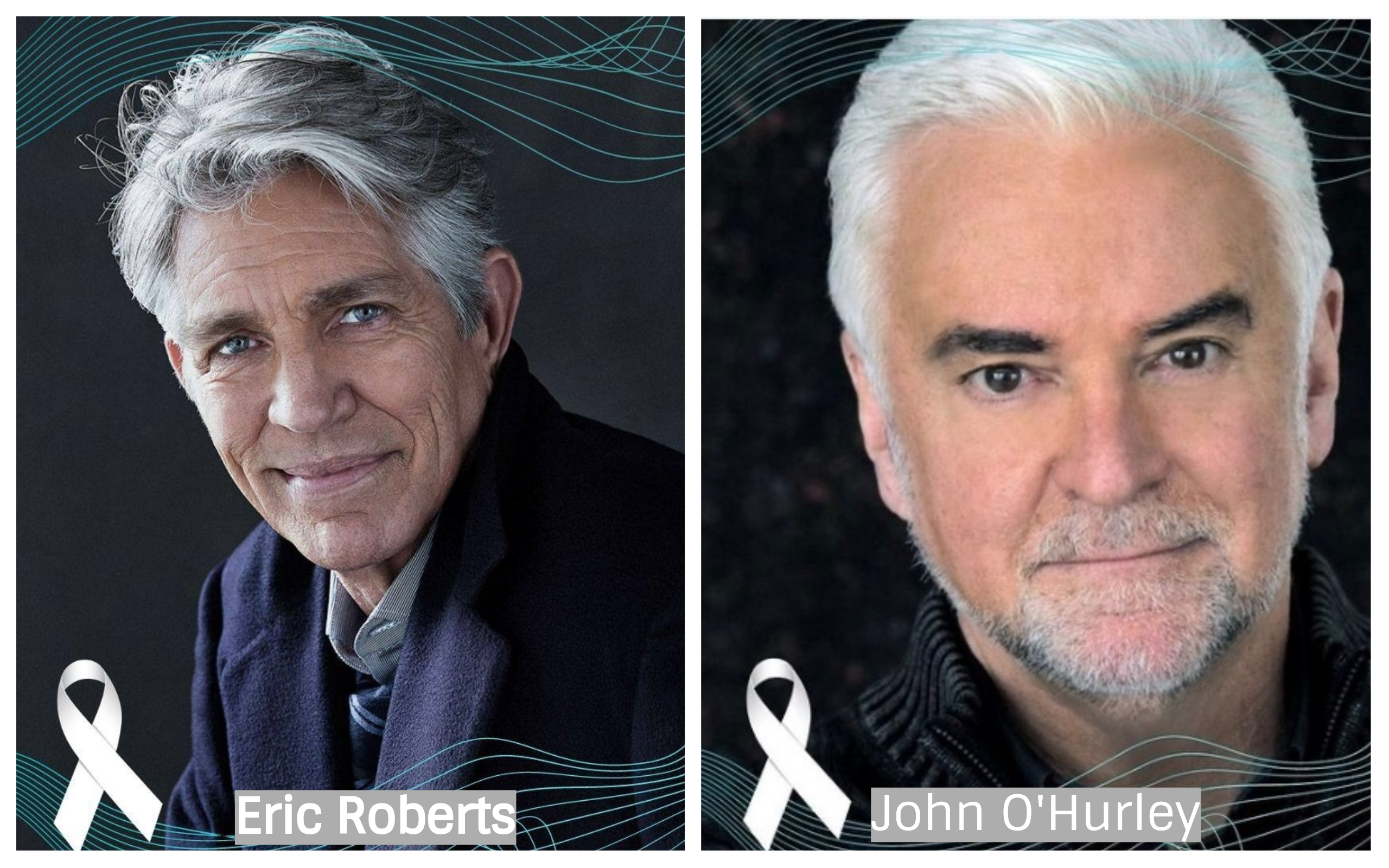 Hollywood Actors Eric Roberts and John O' Hurley Endorse the White Ribbon VA Campaign Against Domestic Violence