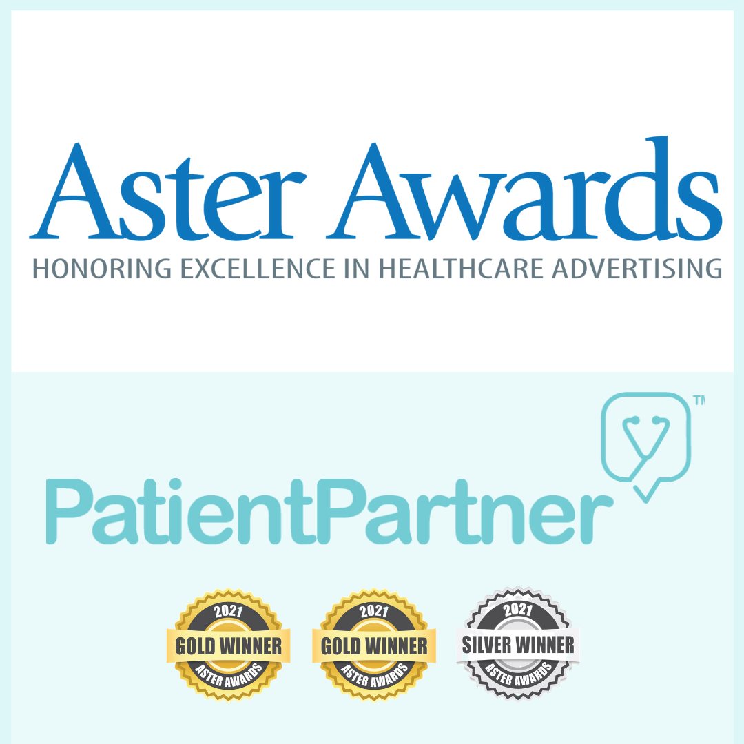 PatientPartner Awarded Three 2021 Aster Awards Honoring Excellence in Healthcare Advertising
