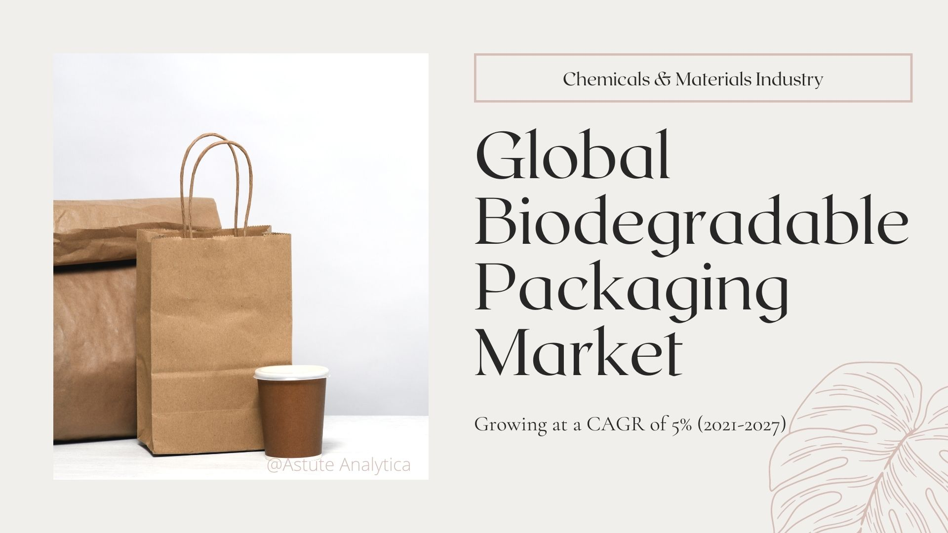 Biodegradable packaging market size, share, growth report explores industry trends & analysis 2027