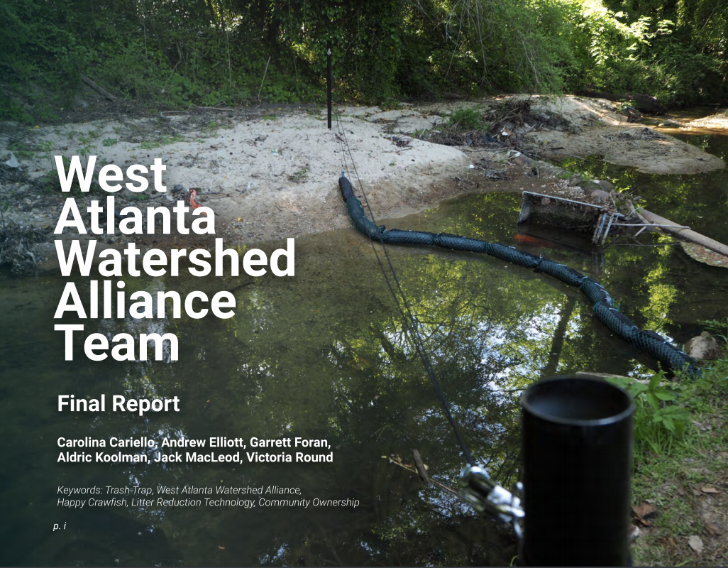 Design Bloc Completes The Trash Trap For The West Atlanta Watershed Alliance Project
