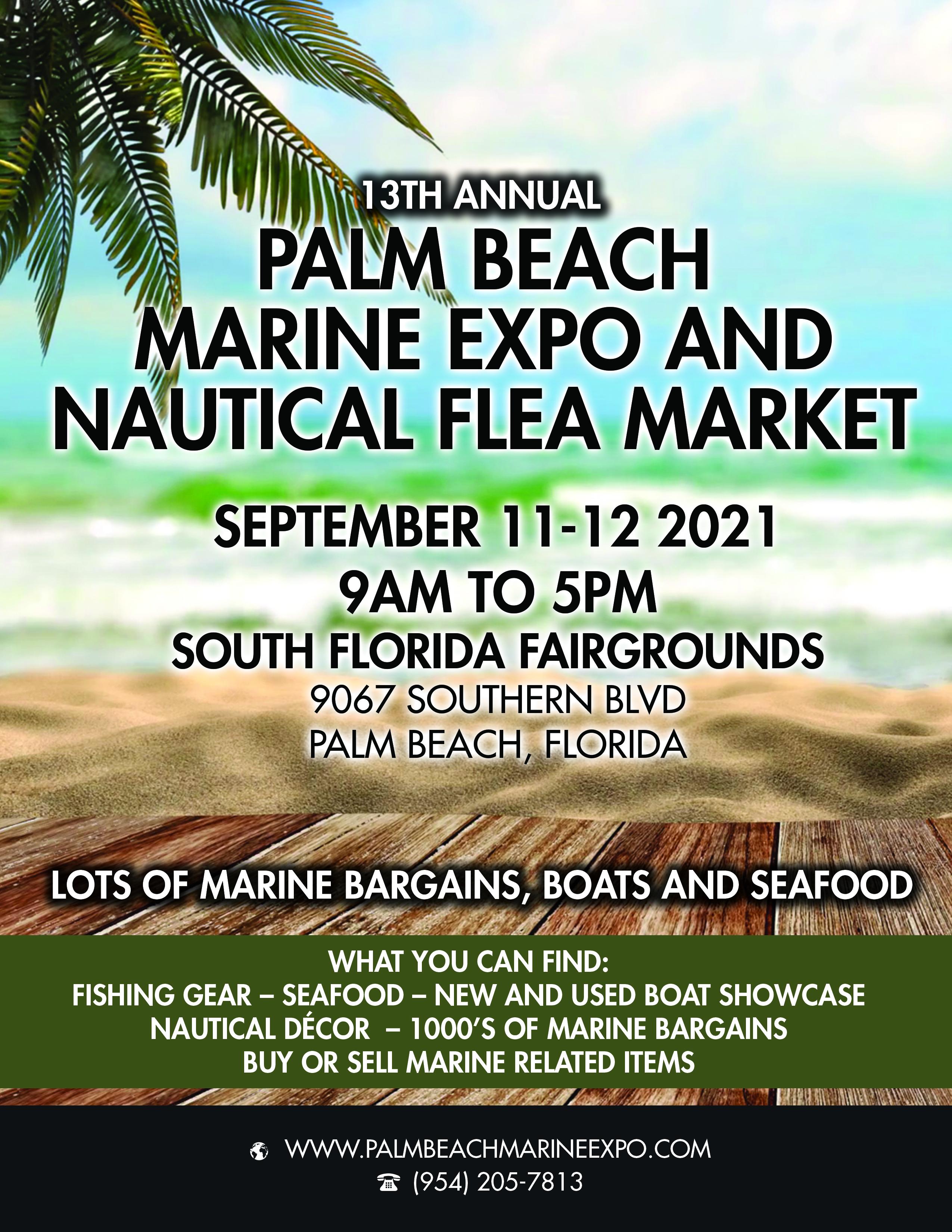13th Annual Palm Beach Marine Expo and Nautical Flea Market Beckons