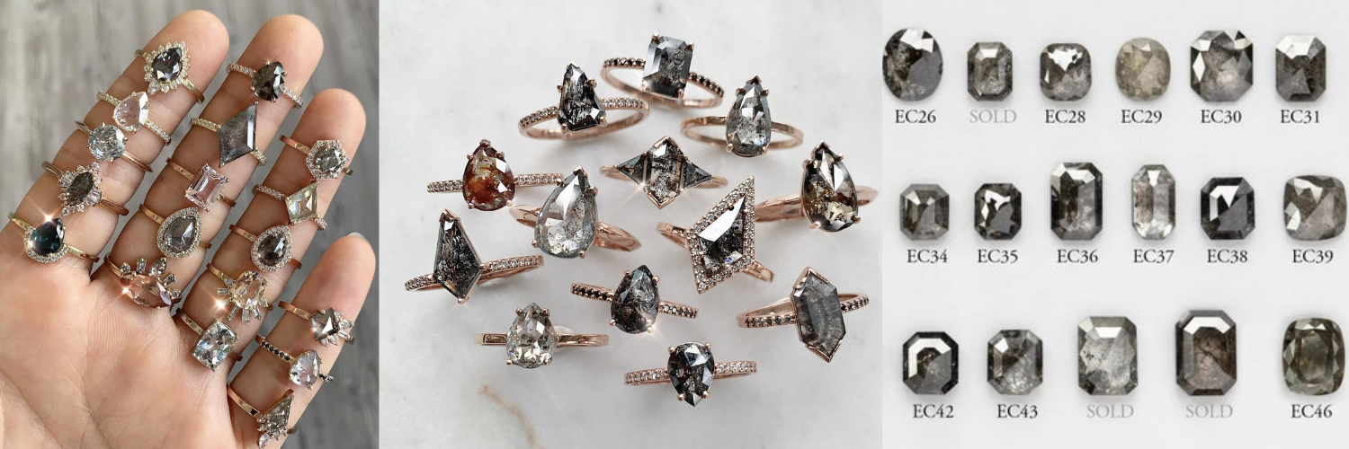 Eurekalook.com Shines with the New Salt and Pepper Moissanite Ring