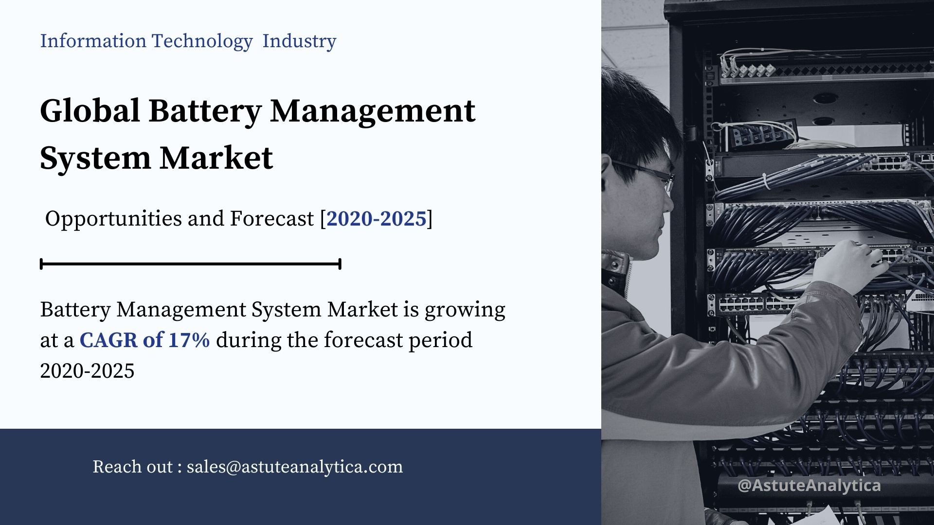 Global Battery Management System Market Key-players, Segmentation, Size, Revenue and Forecast to 2025