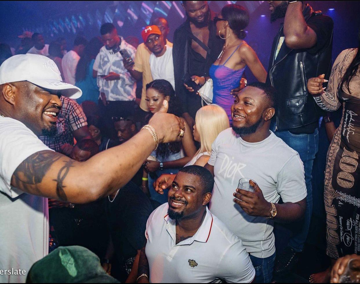 Ayokunle Akinbode, Obi Cubana, and Uyi Ogbebor of Hustle and Bustle hosts Wizkid Live in Abuja