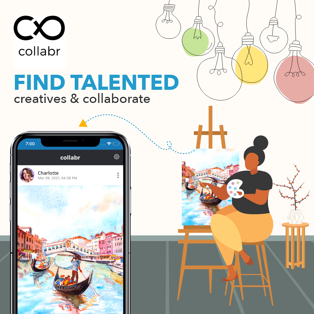 Collabr is a new app that allows creatives to connect and collaborate