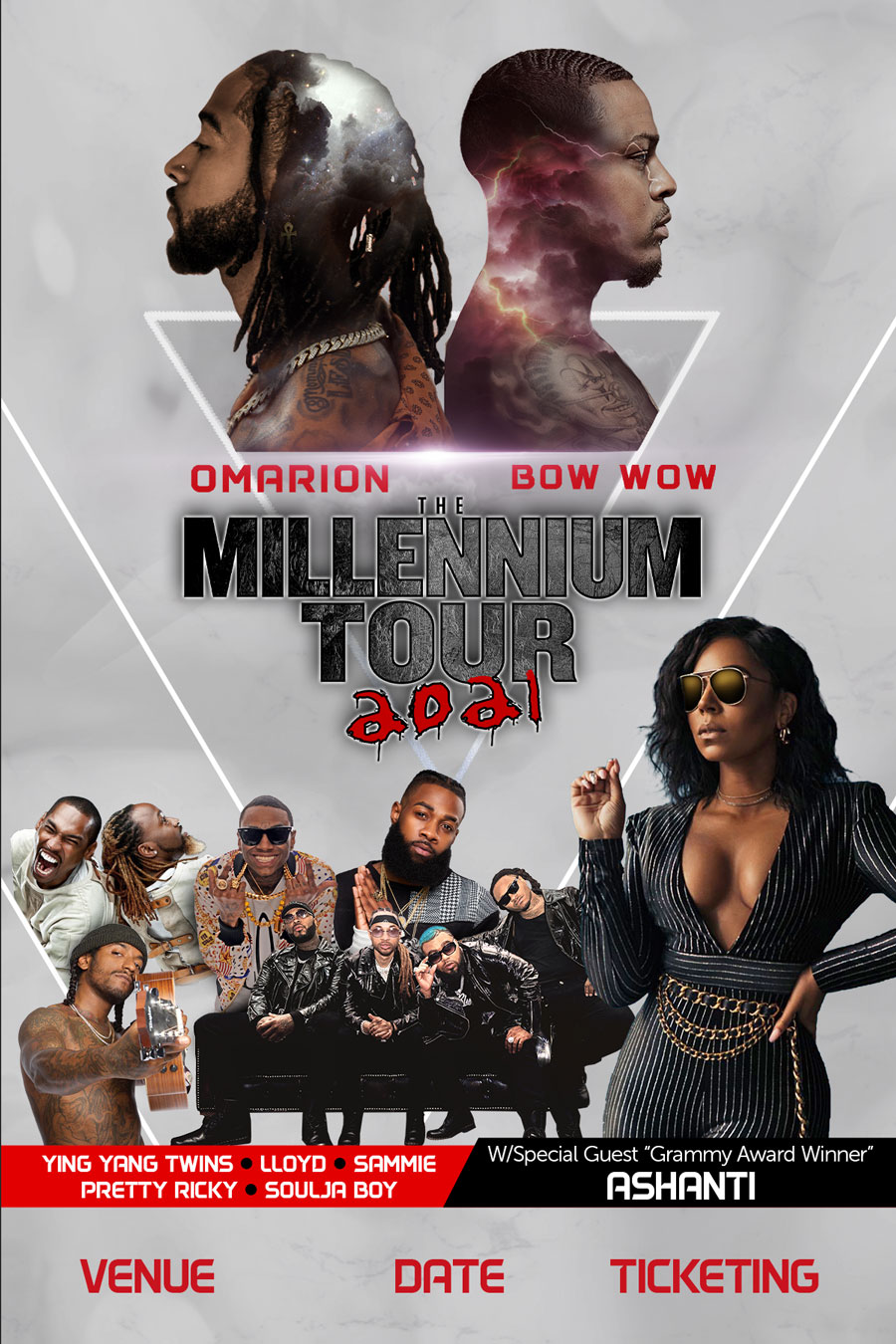 The Millennium Tour 2021 New Dates Announced, Event to Feature Ashanti, Omarion, Bow Wow, Ying Yang Twins, and More