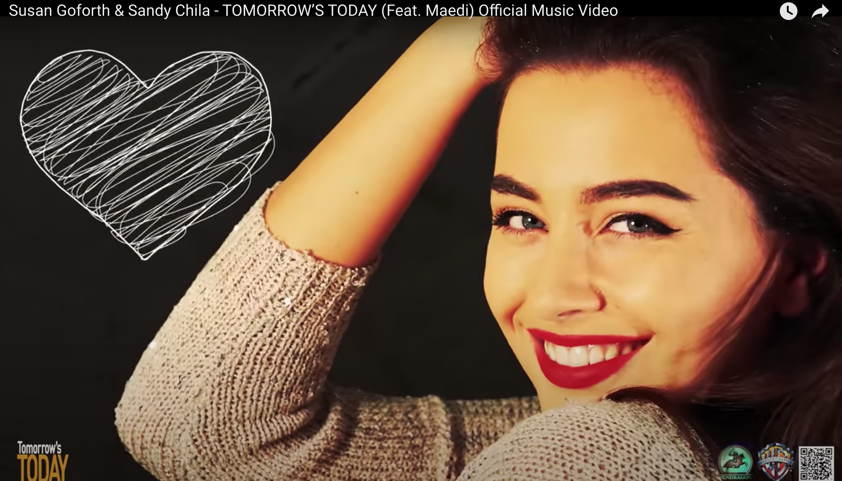 Tomorrow's Today song Official Music Video Released - Britney Spears Writer Alumni Sandy Chila, Susan Goforth and NBCSongland's Maedi Collaborate