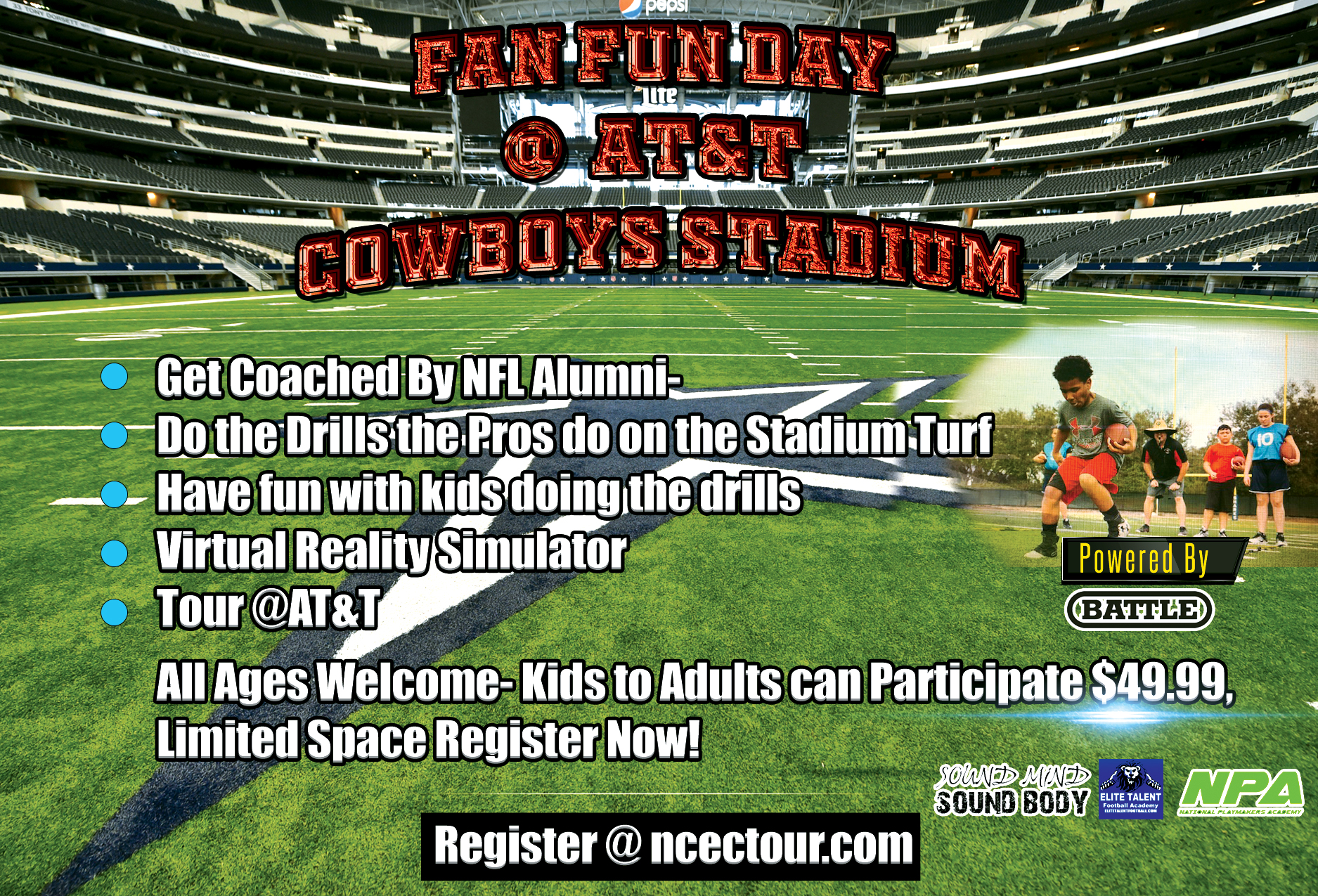 NCEC To Host FAN Day at AT&T Dallas Cowboys Stadium