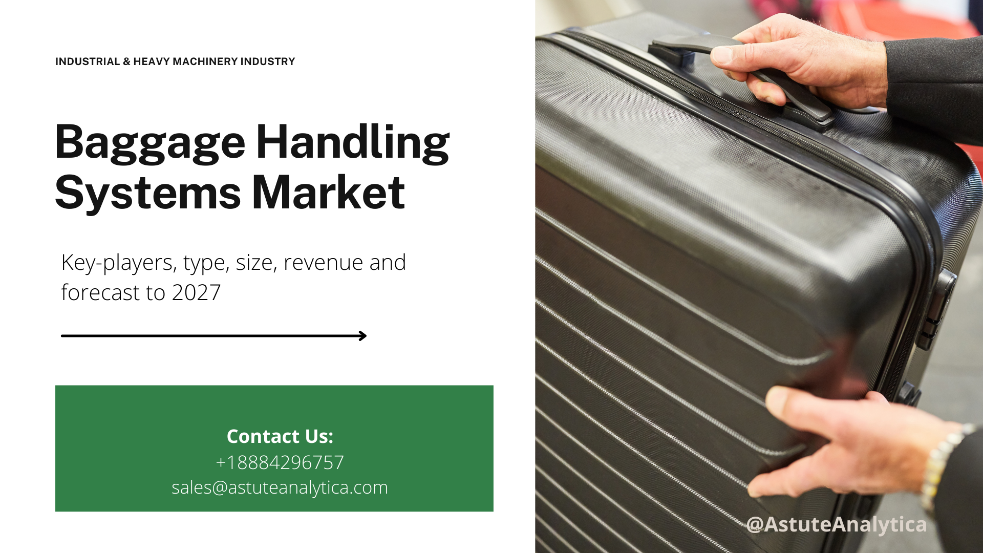 Baggage handling systems market key-players, type, size, revenue and forecast to 2027