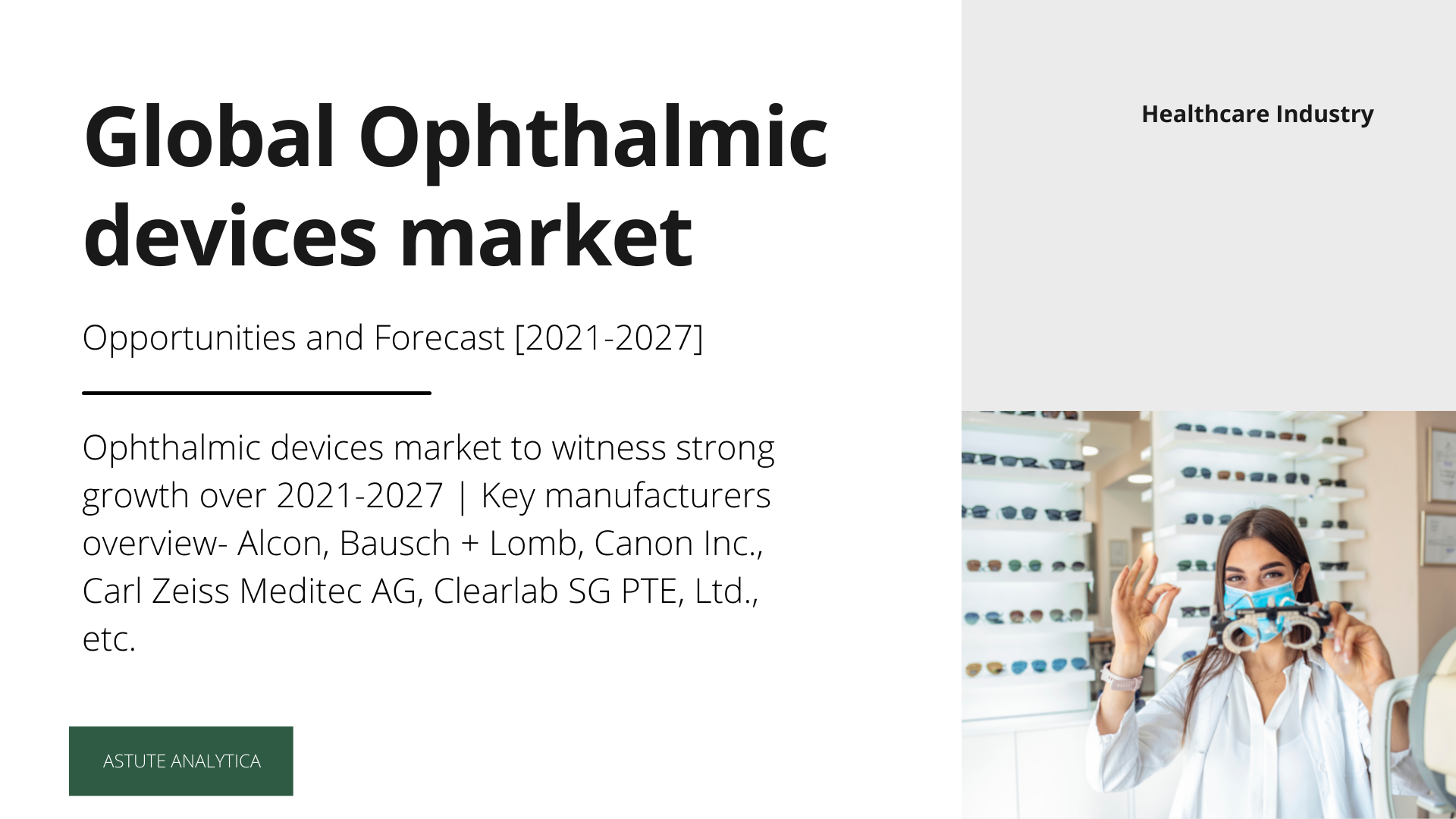 Ophthalmic devices market future prospects, growth opportunities and outlook (2021-2027) shared in trending report