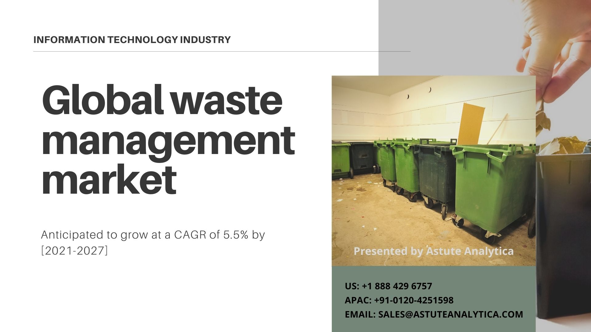 Waste management market 2021 global outlook, research, trends and forecast to 2027