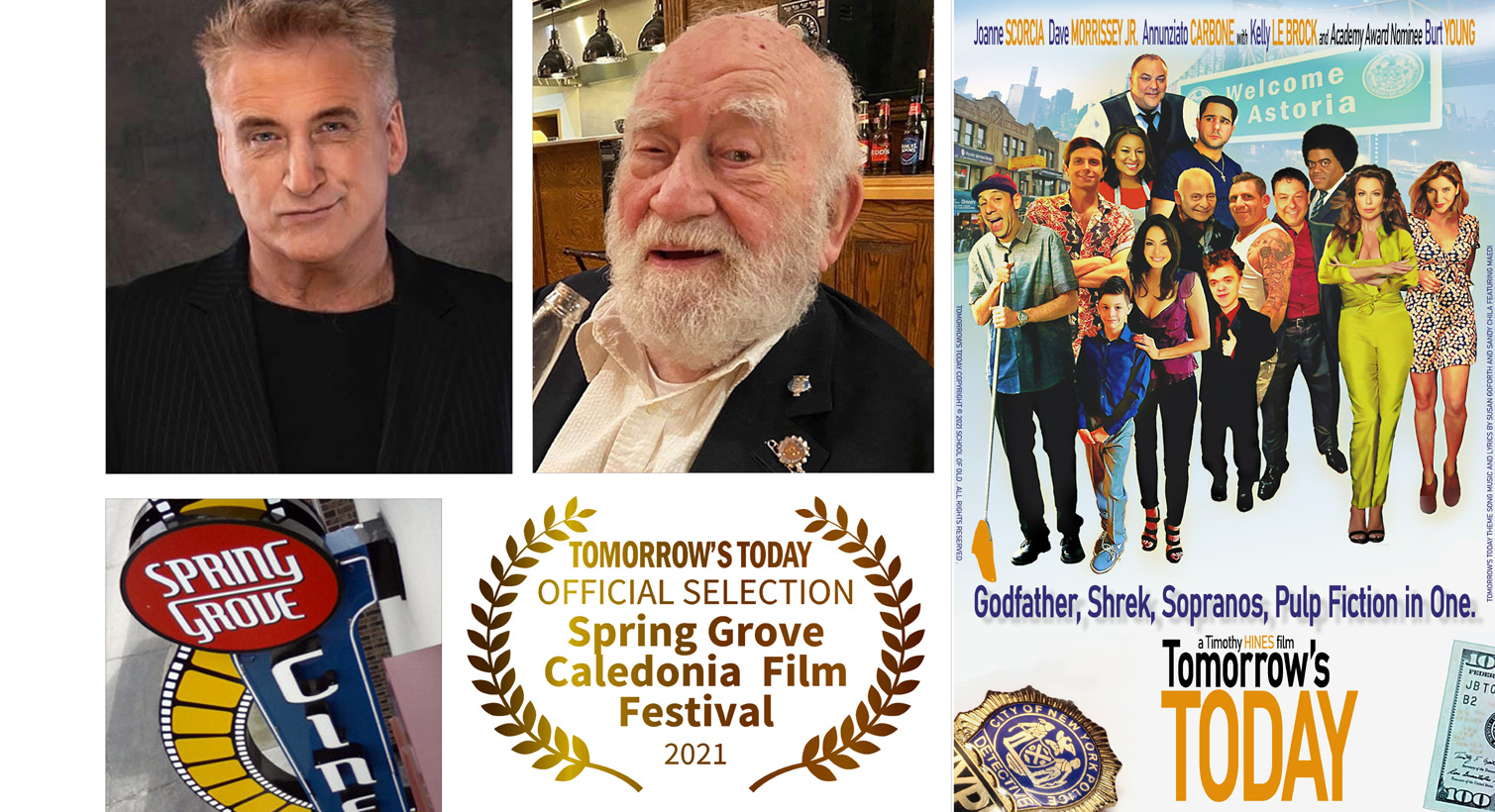 """""""Tomorrows' Today"""" to be Screened at Spring Grove-Caledonia Film Festival with hosts Daniel Baldwin and Ed Asner July 23-25"""
