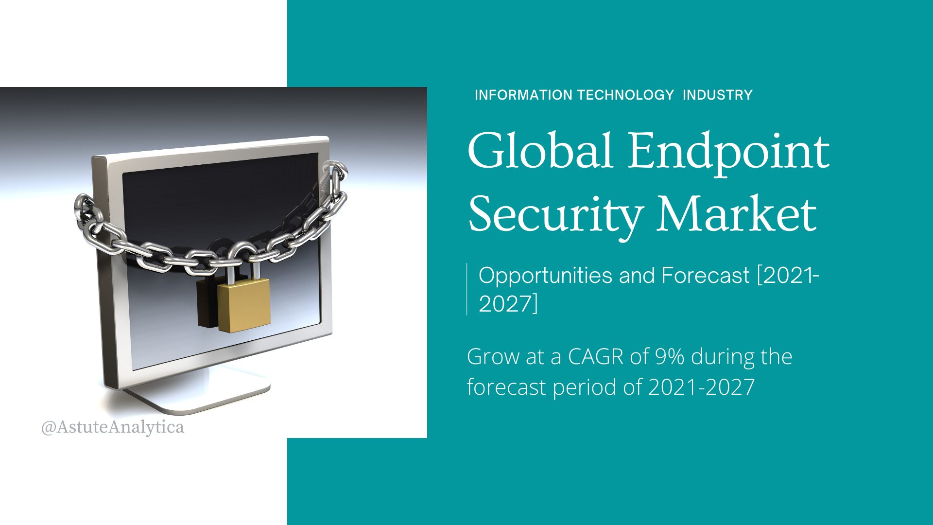 Endpoint Security Market is projected to expand at a CAGR of 9% by 2027