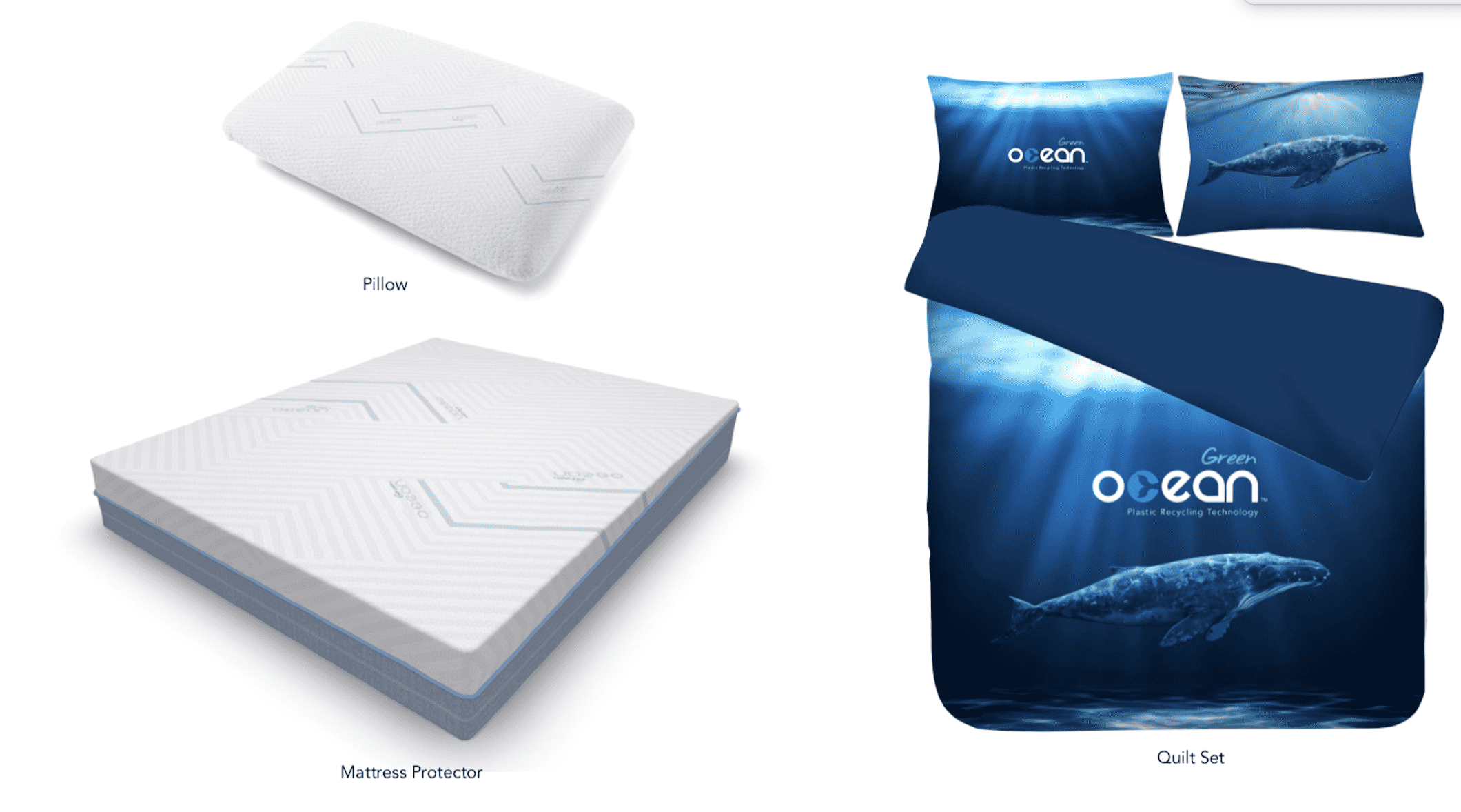 Bedding Manufacturer JHT's new brand Green Ocean for Recycled Products